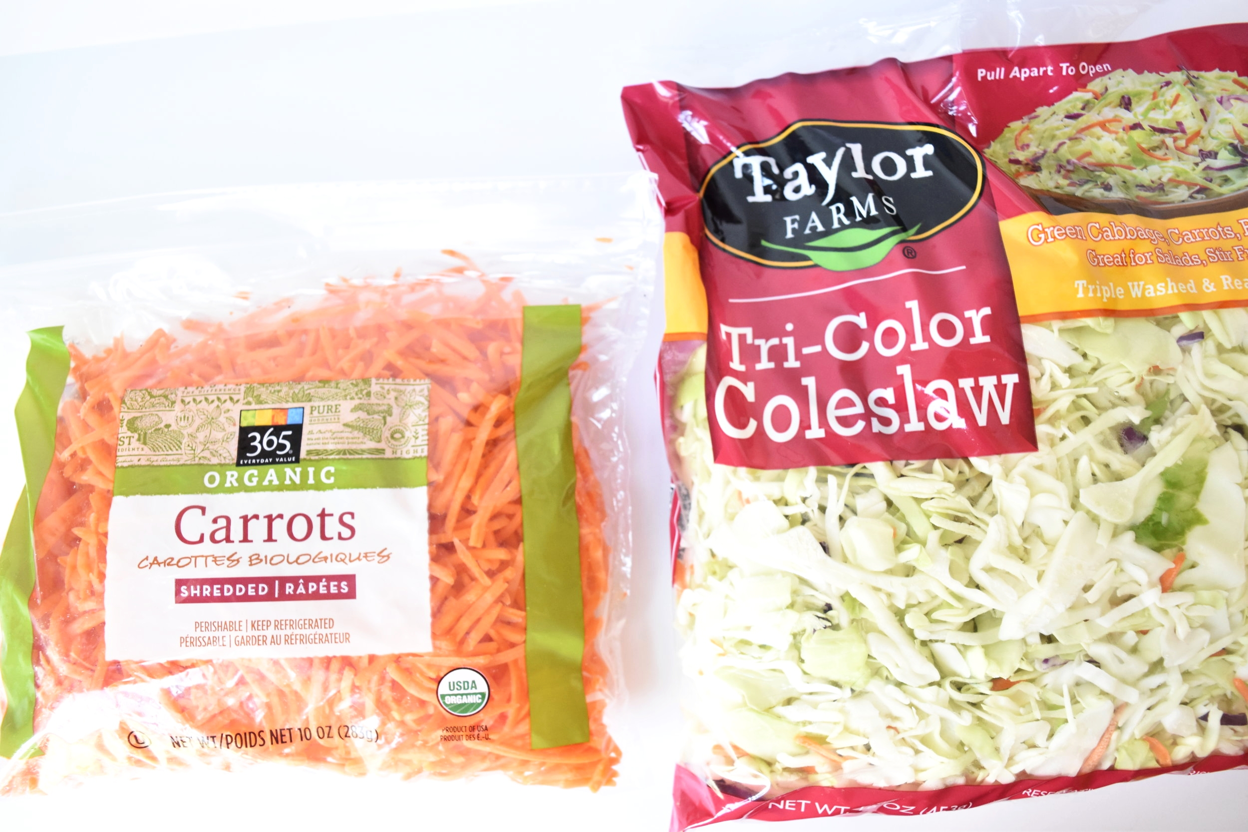 Purchase shredded veggies to make meal prep simple.