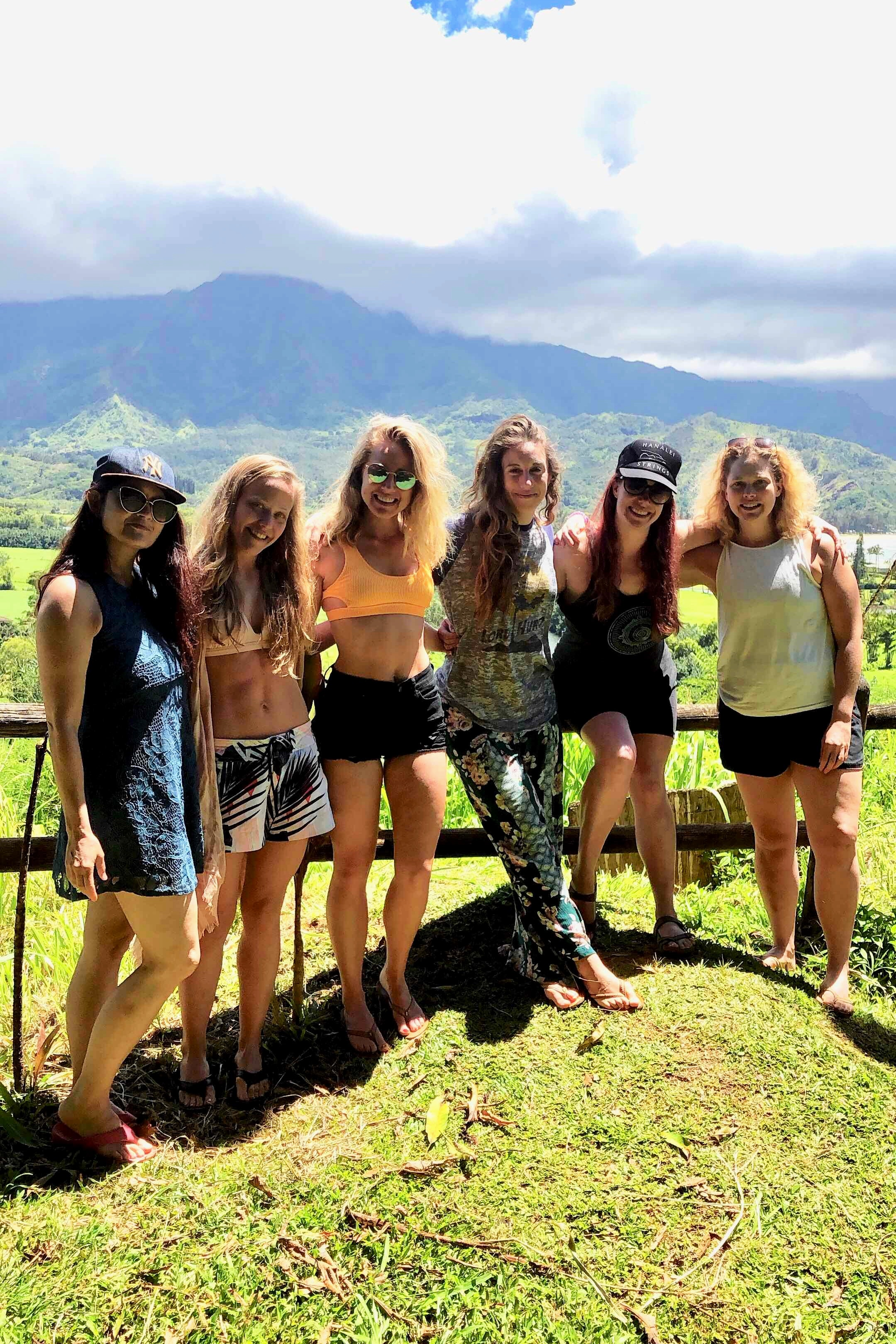 The view from Nourish Hanalei, with my retreat ladies.