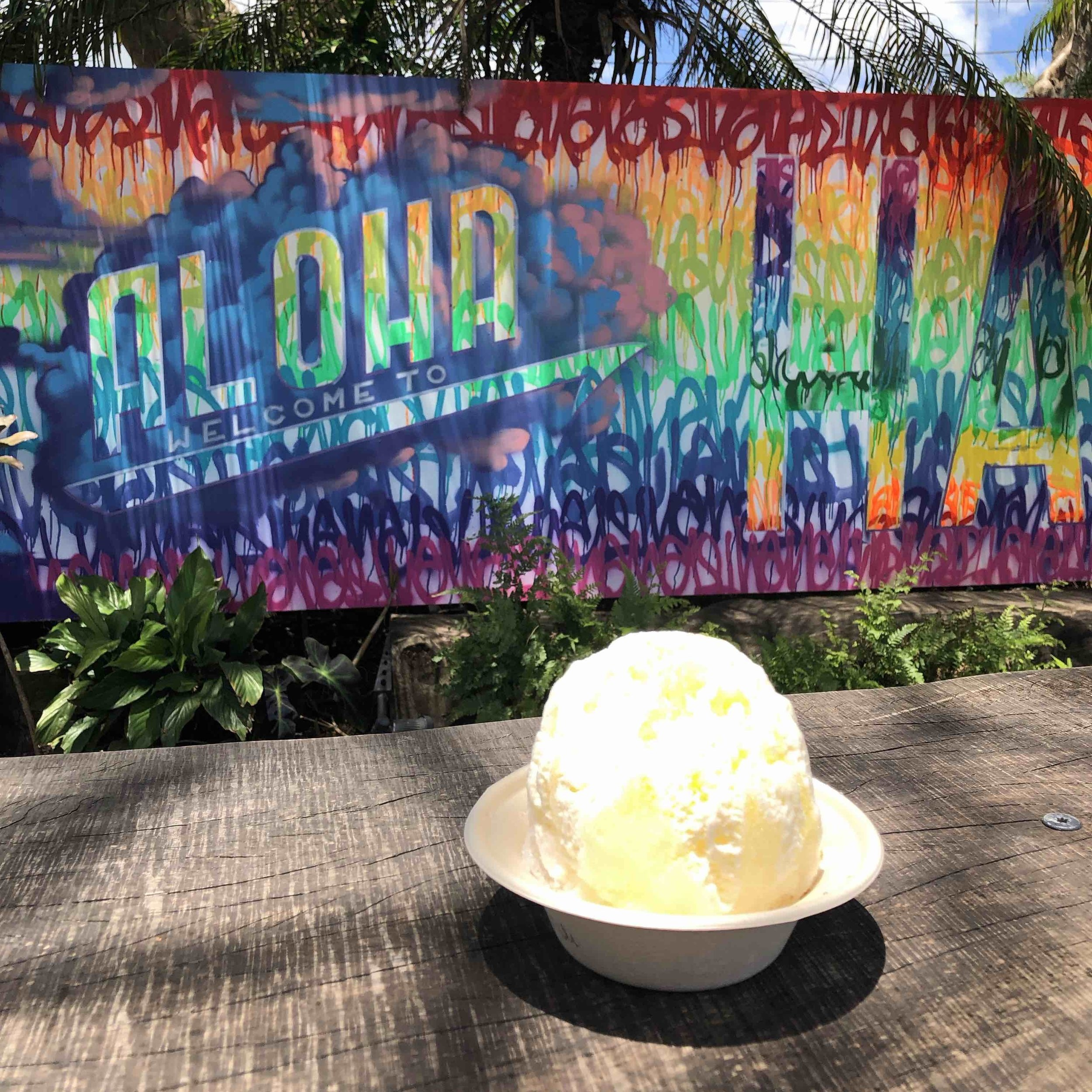Shave ice at Wishing Well