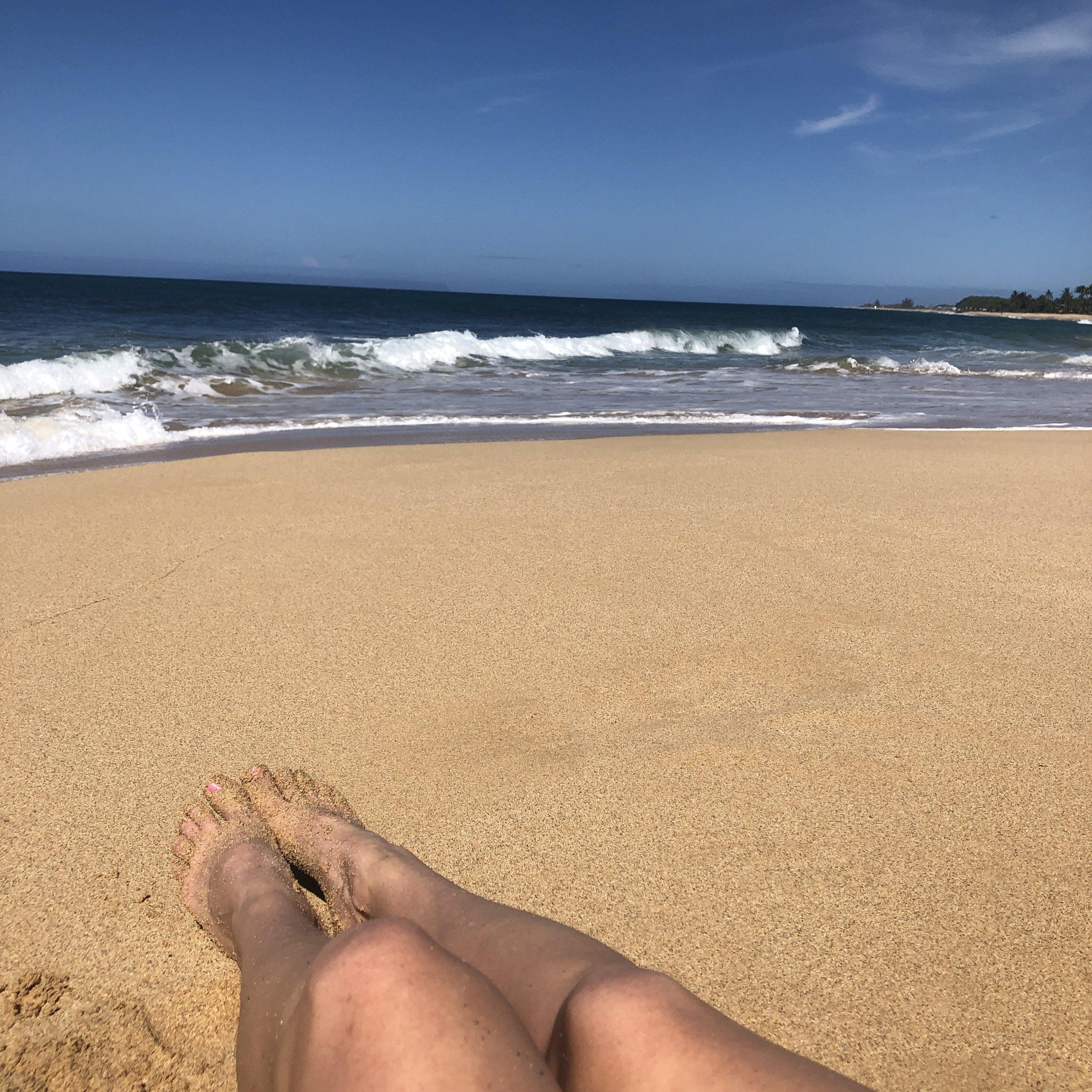 Out at Kekaha Beach