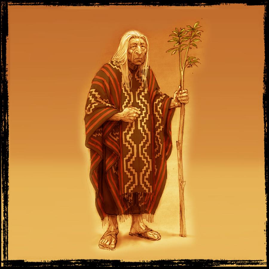 El Sabio.  La experiencia y las voces ancestrales lo guiarán para descubrir al libertador de su pueblo.
