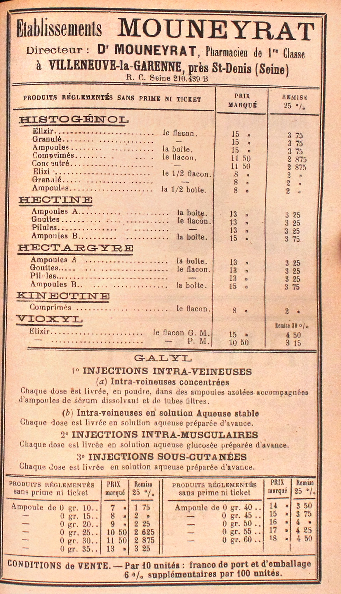 Galyl Advertisement      in     L'Union Pharmaceutique    71, no. 9 (1930), p. 571.                         (Courtesy of   Bibliothèque Interuniversitaire de Santé)