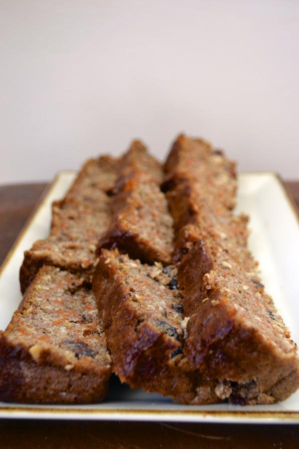 gluten free carrot bread