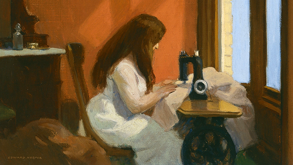 Girl at Sewing Machine  [detail] / 1921 / Edward Hopper / CC via Wikimedia Commons