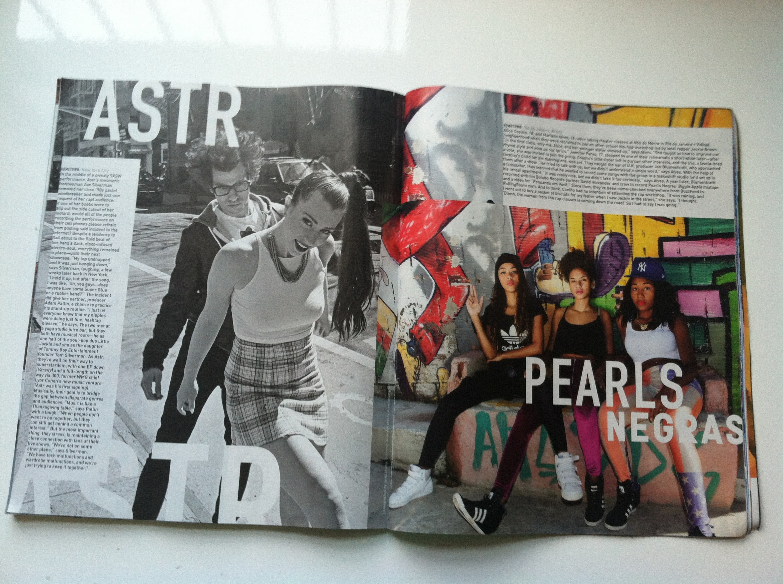 Astr photographed by David Shama. Pearls Negras photographed by Larissa Felsen.