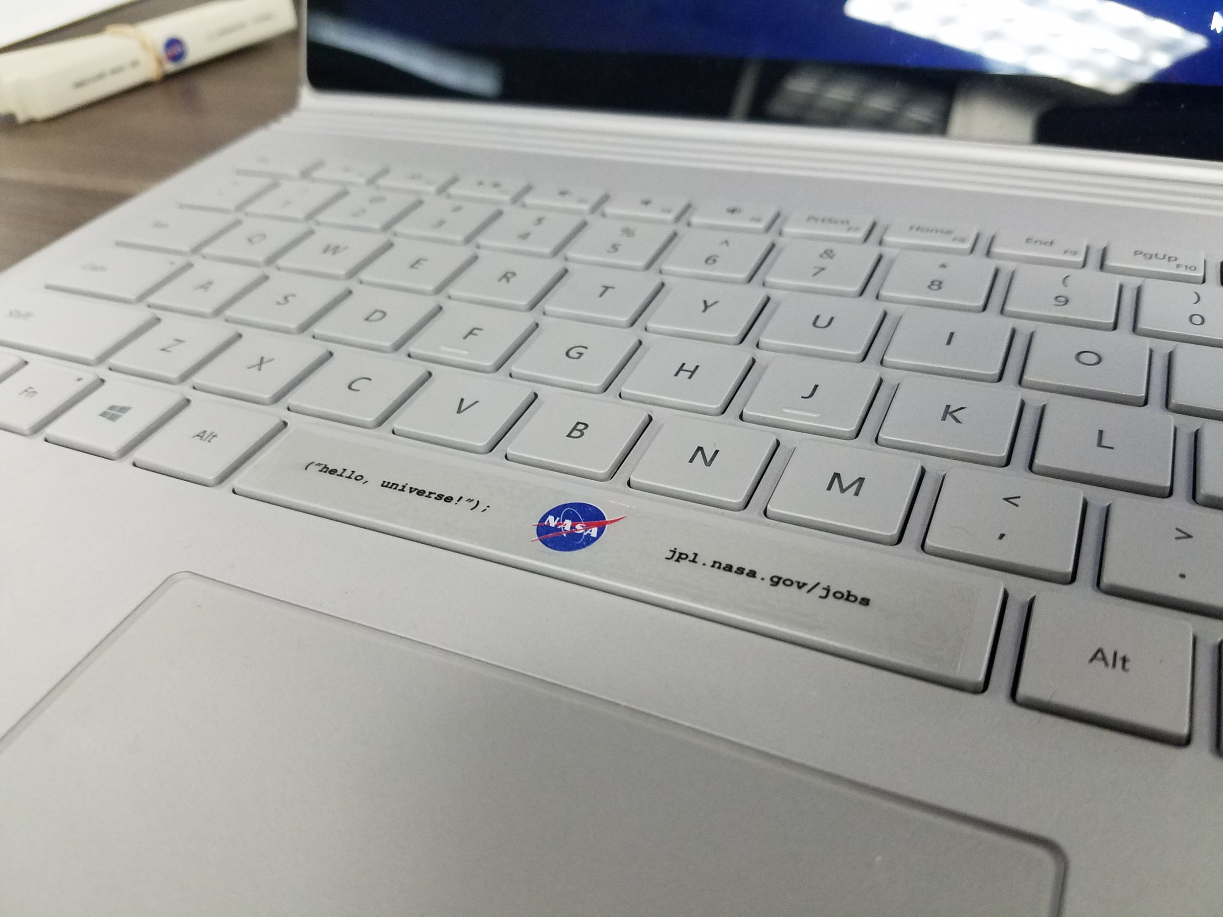NASA should OWN the space bar.