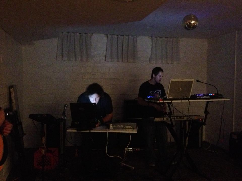 Bobbie Boob performing at the Think Tank House in Lincoln Nebraska