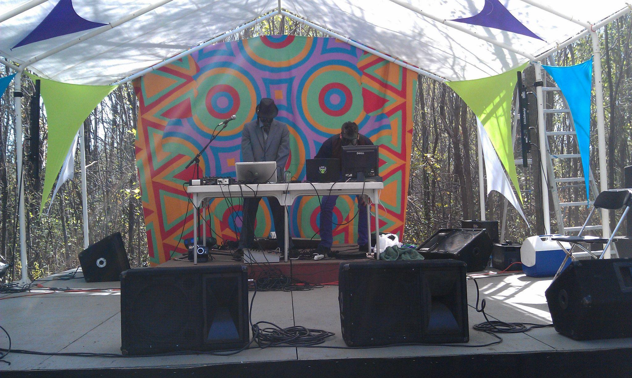 Bobbie Boob performing live at the 2nd Annual Tribal Equinox Festival in Nebraska