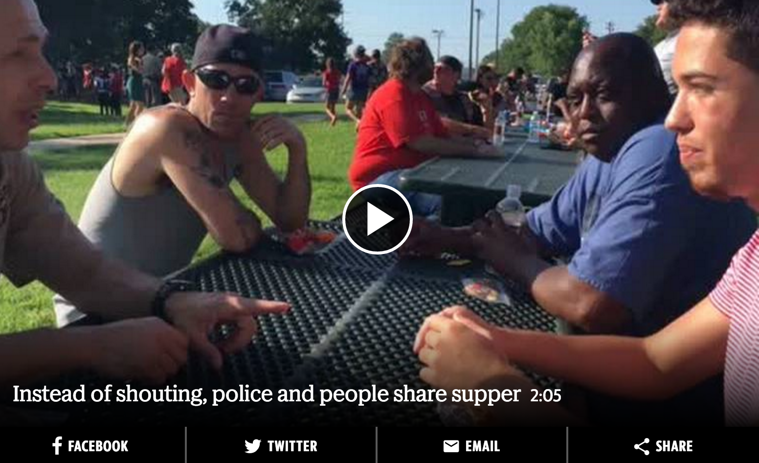 """""""Black Lives Matter protest in Wichita changed to cookout with police"""""""