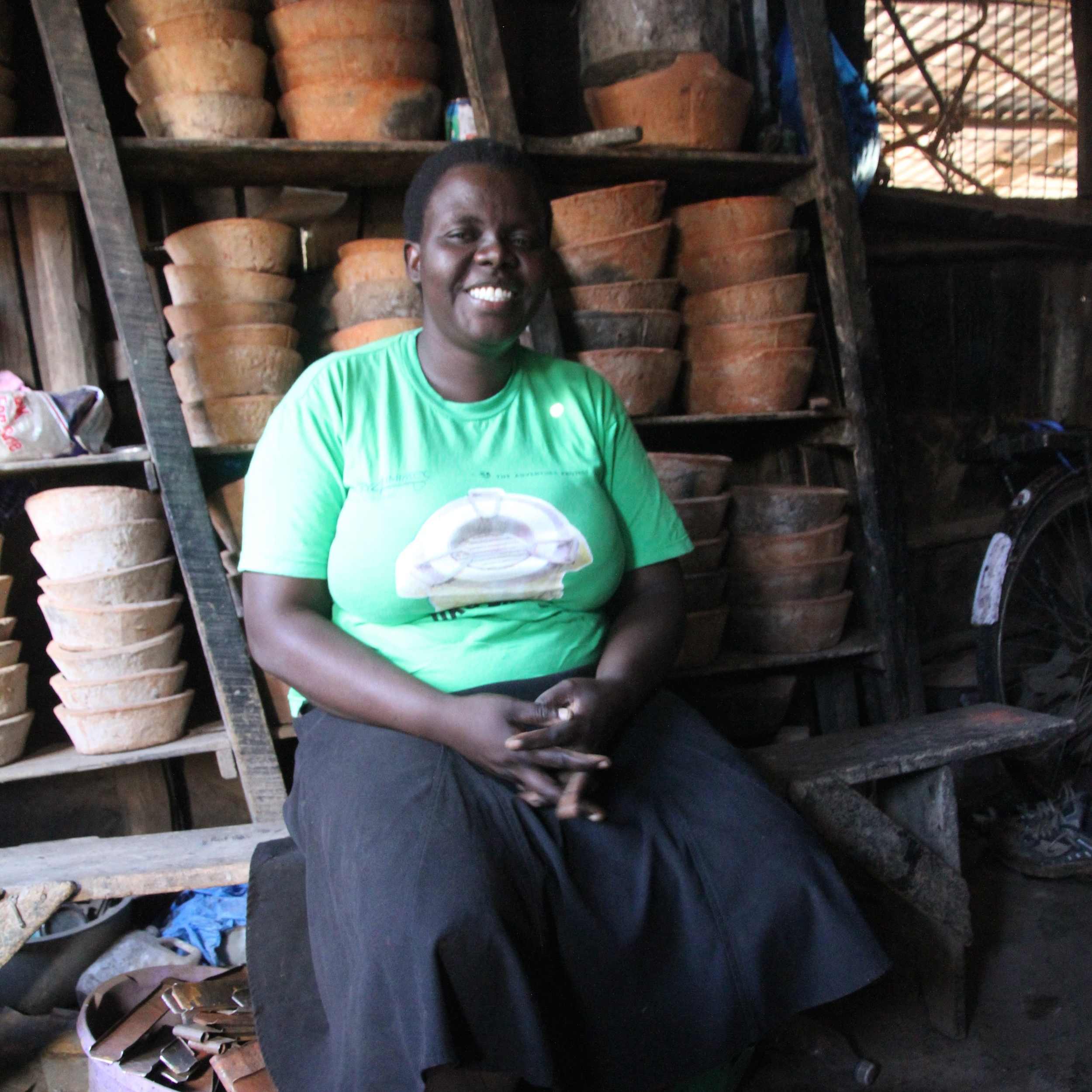 Hi, I'm Jeniffer - My cookstove business is the only reliable source of income for my family. With your support, I'll open new outlets to sell my products and reach new customers!
