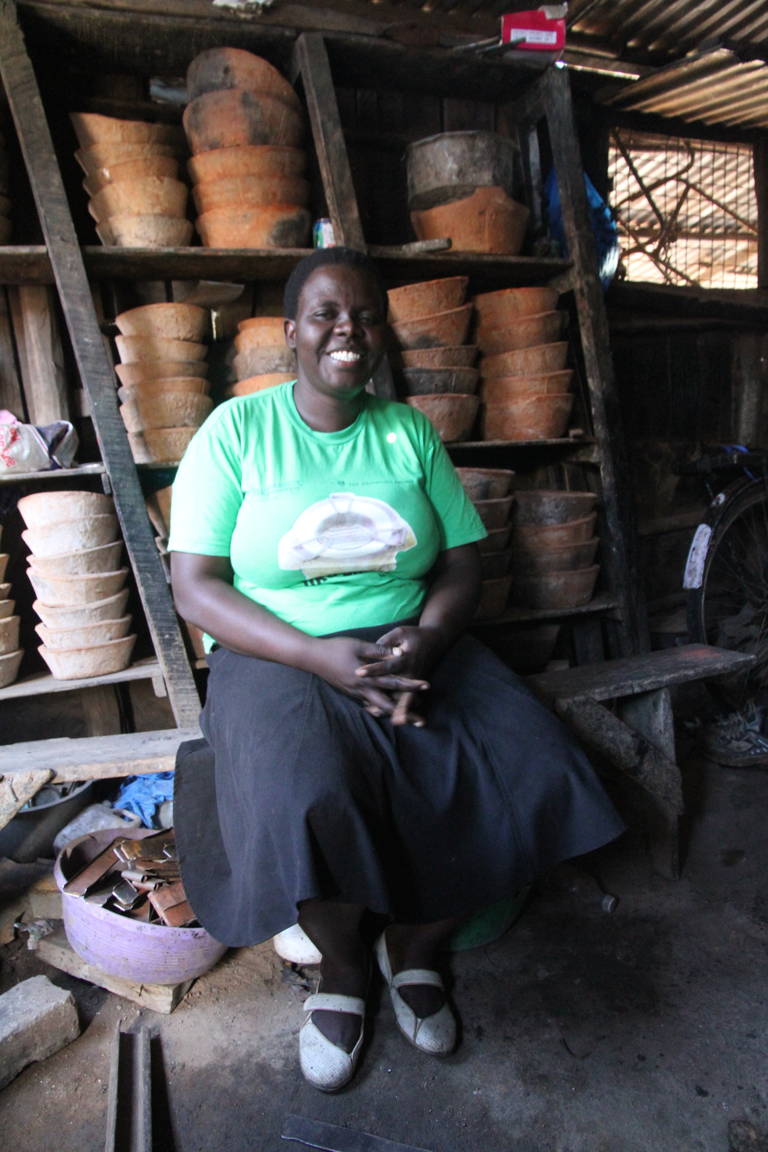 Jeniffer with her stoves