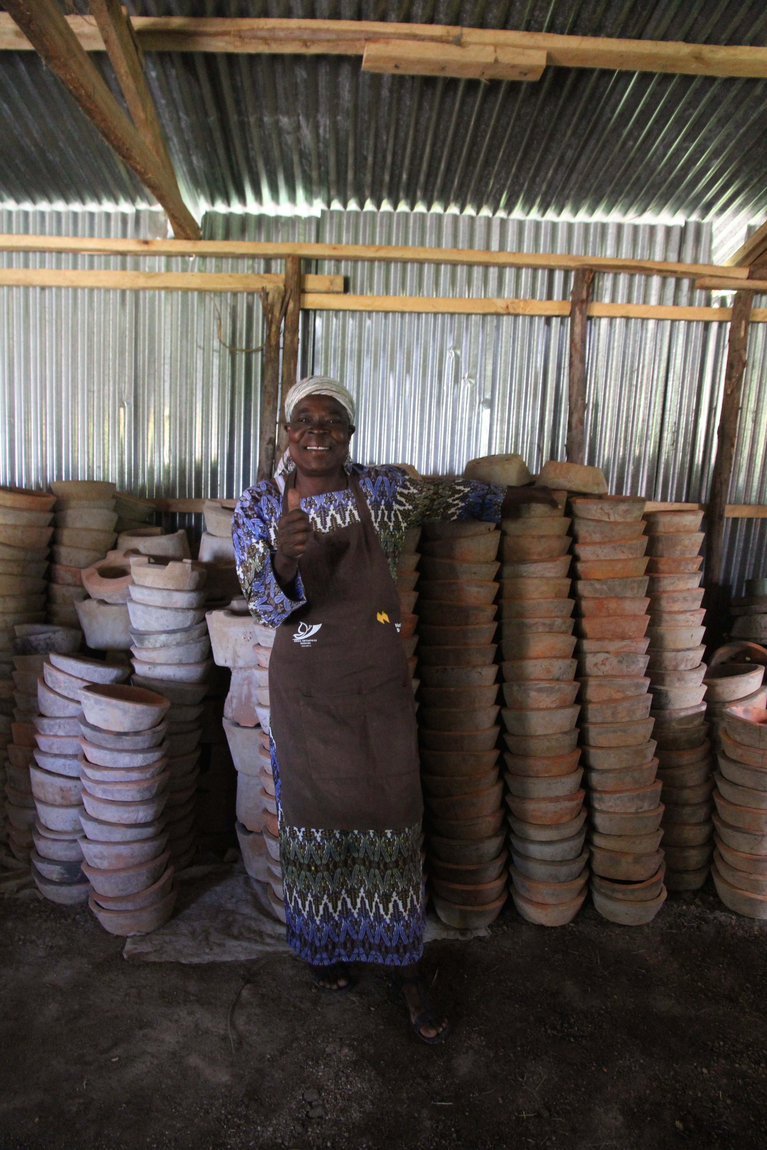 With her cookstoves