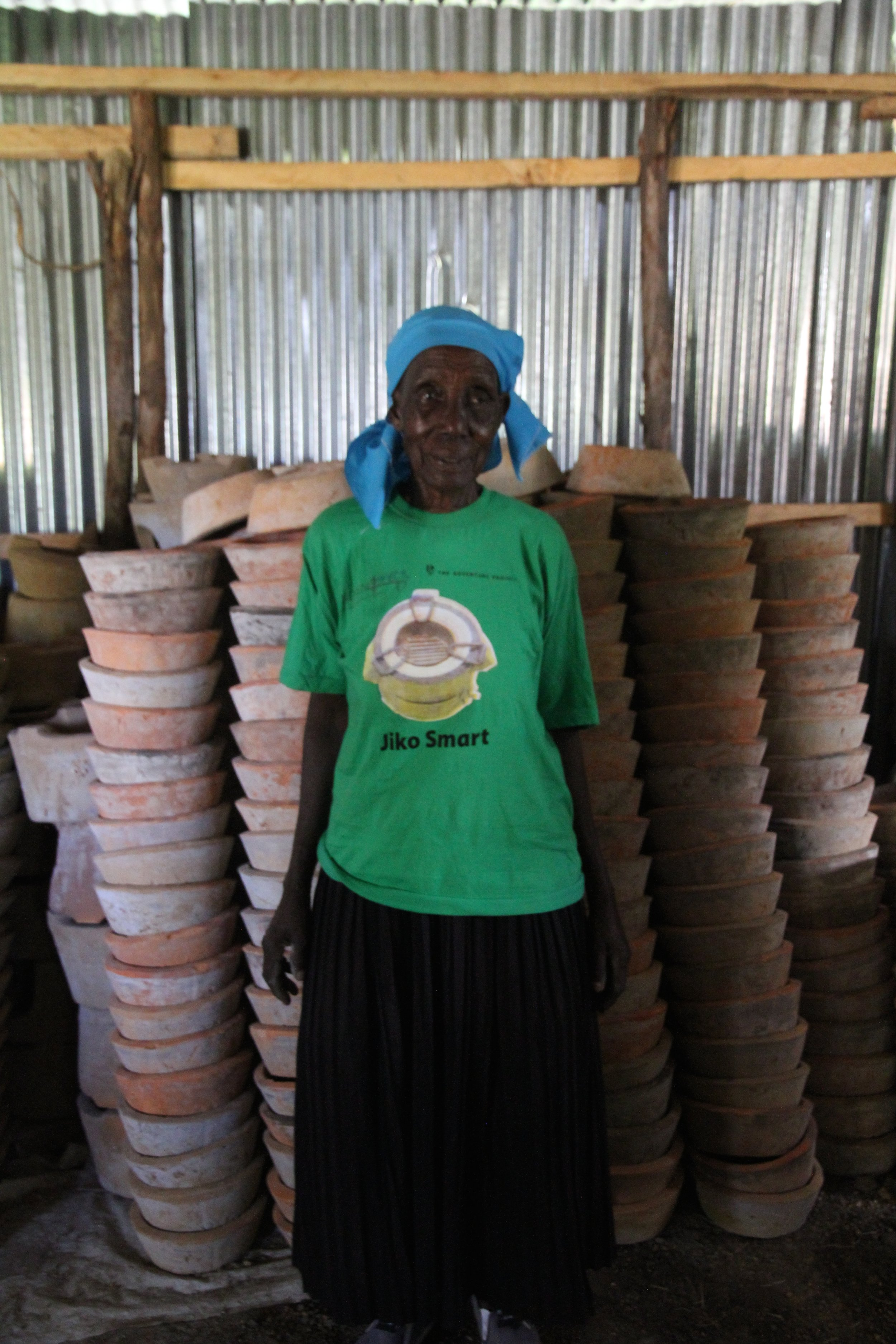 Dorina with her stoves