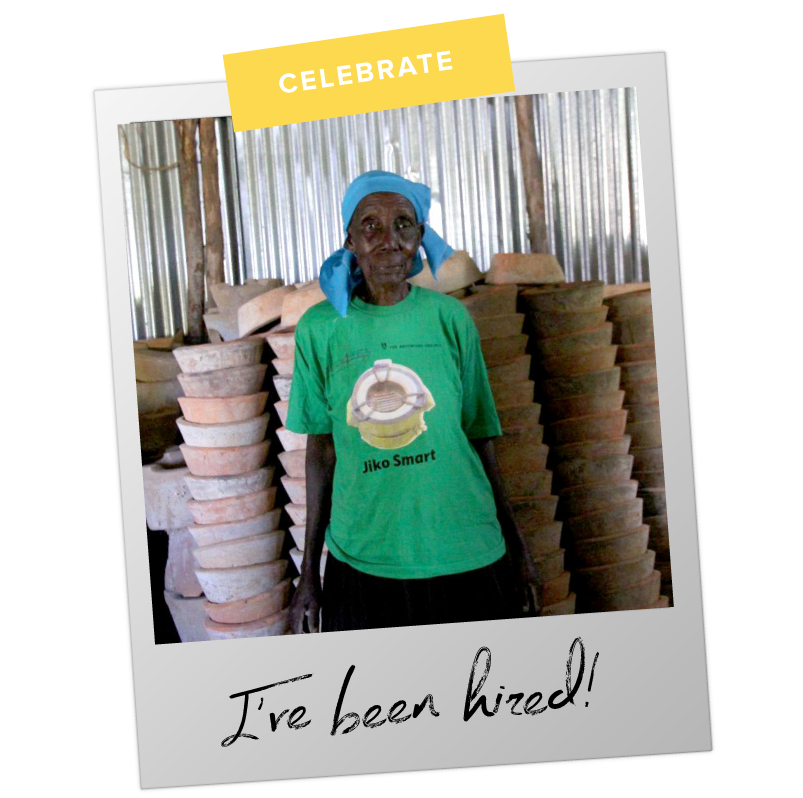 Hi, I'm Dorina - I run my business to pay my grandchildren's school fees and meet my basic needs. With your help, I'm excited to receive business training, and I want to hire eight members of my community to assist in stove production.