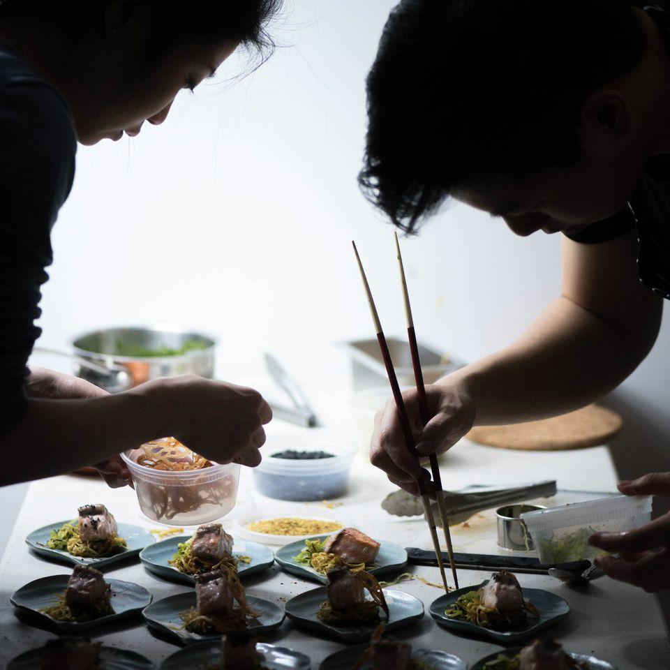 Between his duties as Junzi Kitchen chef, Lucas Sin runs a ten-course pop-up restaurant with Kay Teo