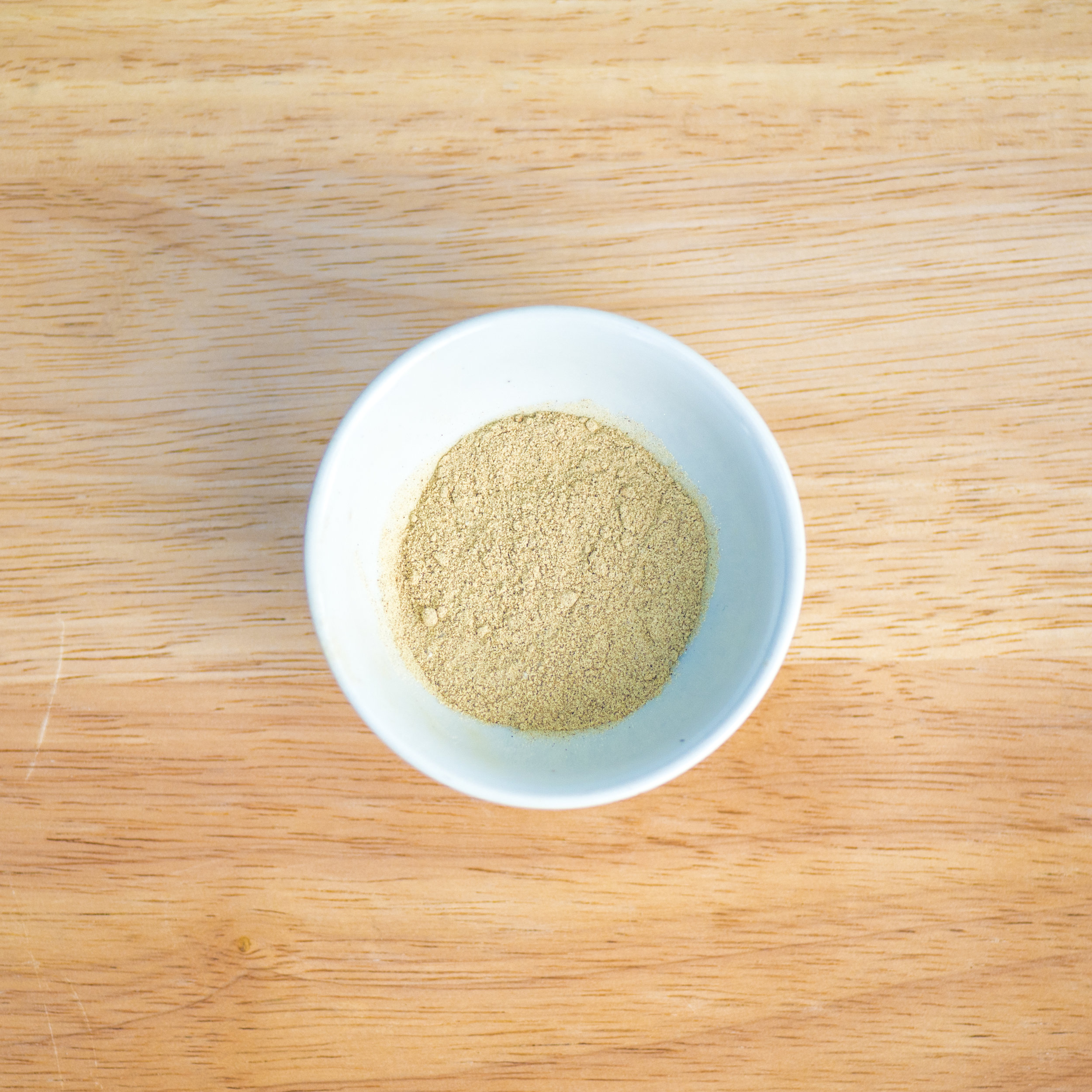 shrimp salt   To give our bings and noodles the northern Chinese signature seafood flavor, we toast and grind up dehydrated shrimp shells to make shrimp salt. The natural salinity of the ocean gives the shrimps a salty quality, hence shrimp salt.