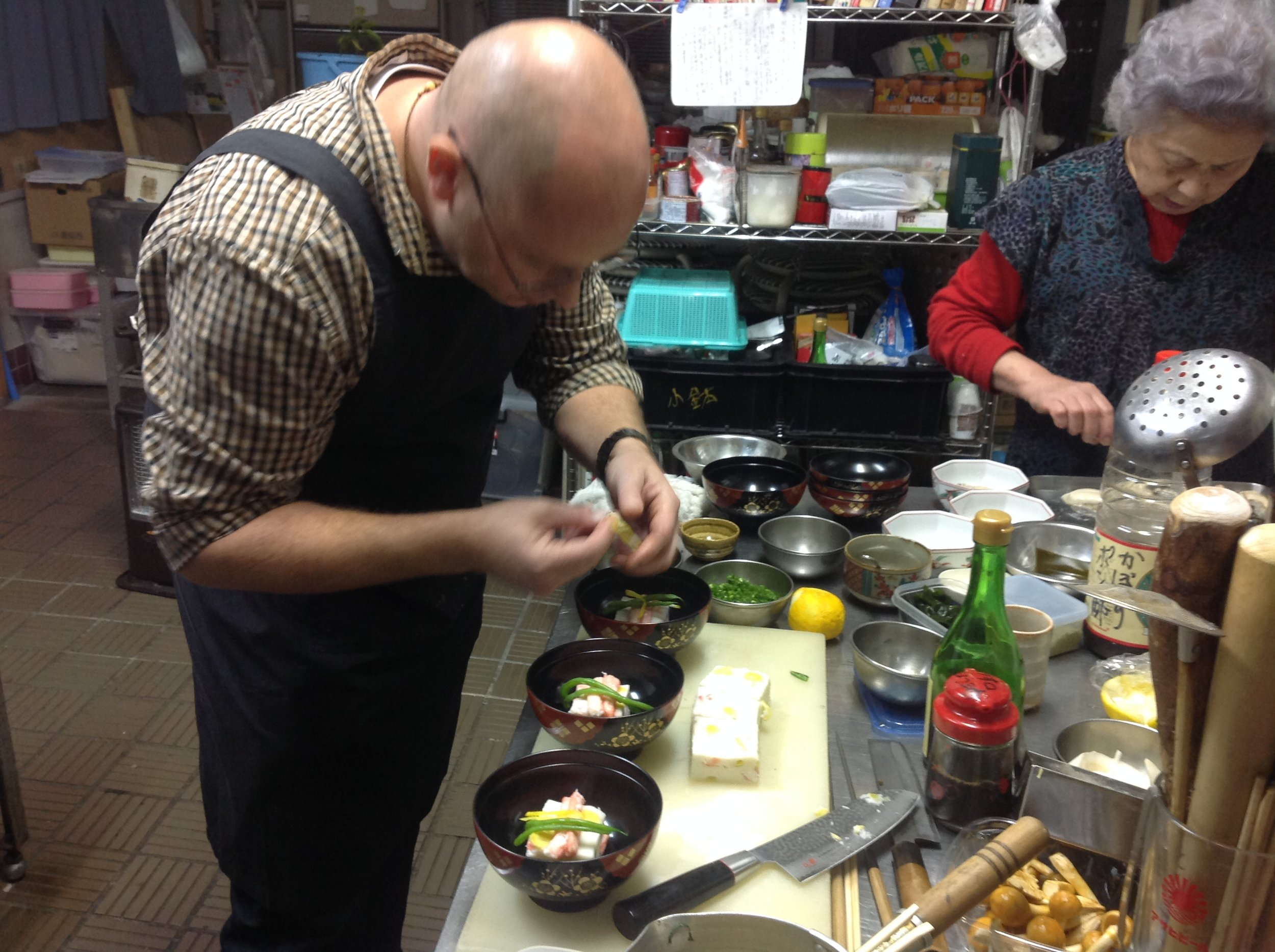 Derek and Shuji spent all day and evening on making full course authentic kaiseki cuisine.