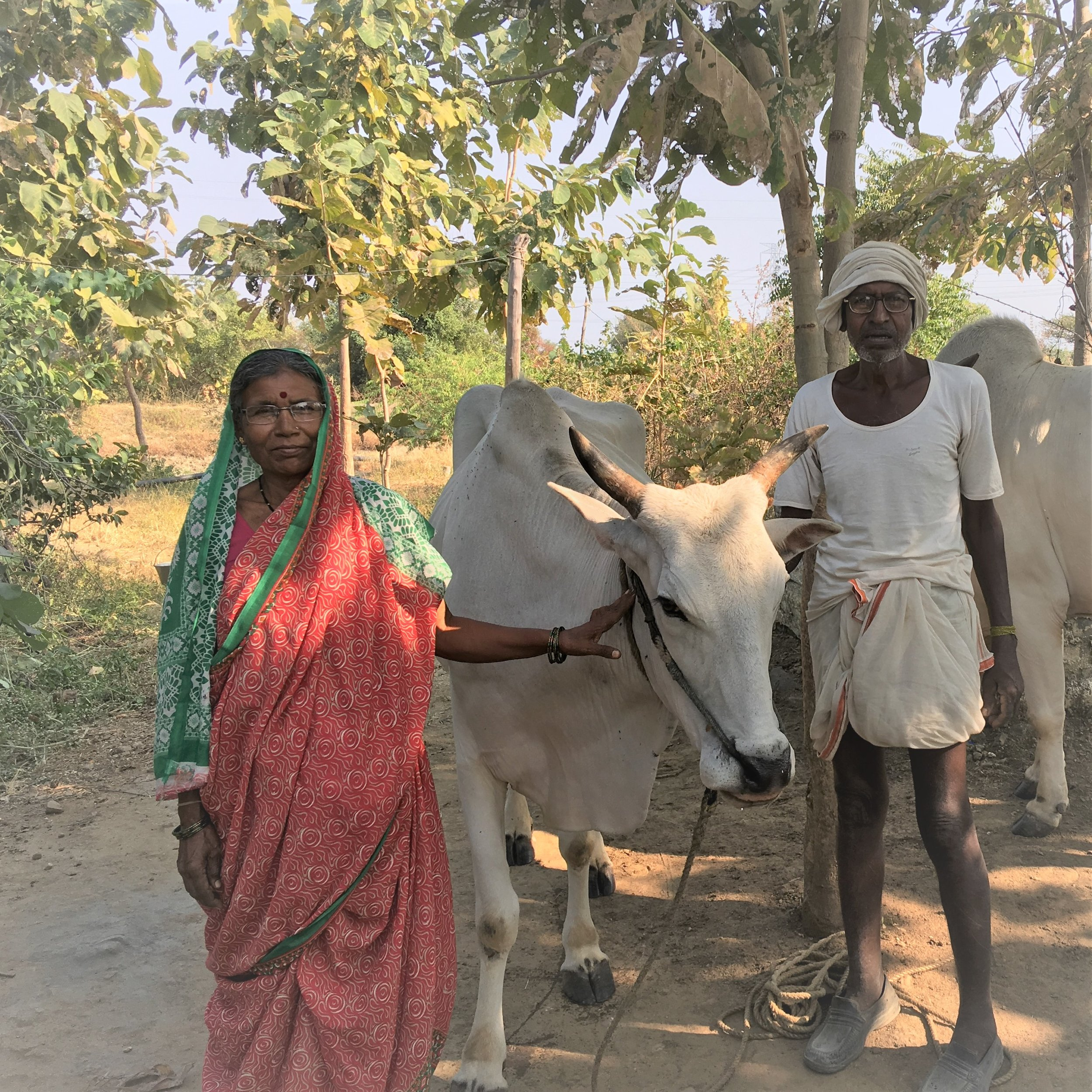 Two of the farmers working with MSS