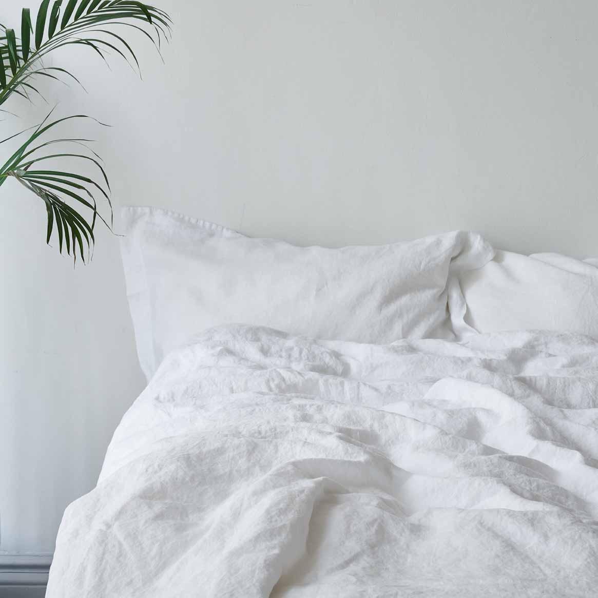 Organic linen bedding