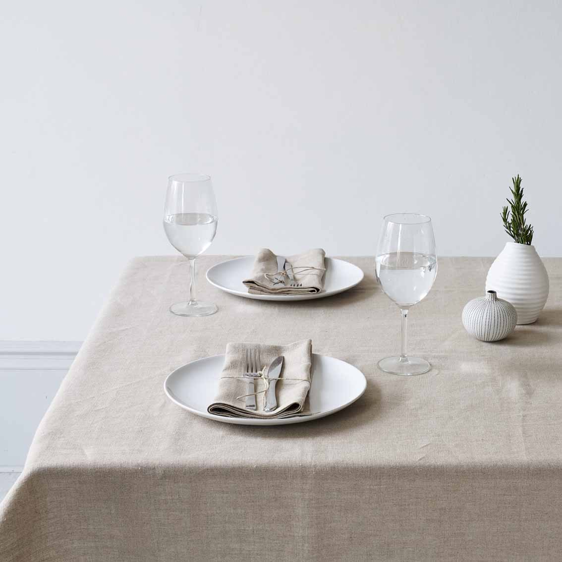 Organic Linen Table Cloth