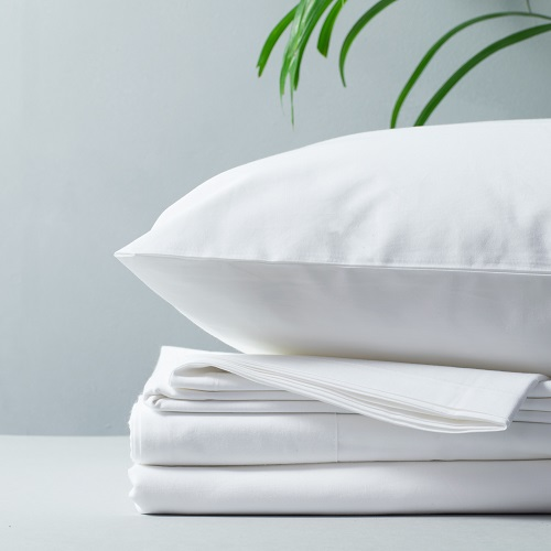 Organic Cotton Percale - Percale is the most classic of our bedding fabrics. It is a cotton fabric made through a one-over, one-under weaving method that creates a tight, smooth and matte fabric – similar to a crisp cotton shirt. Percale's smoothness and perfectly balanced weight make it a good choice for all seasons, but it's particularly good in the spring and autumn.Shop organic percale bedding here.