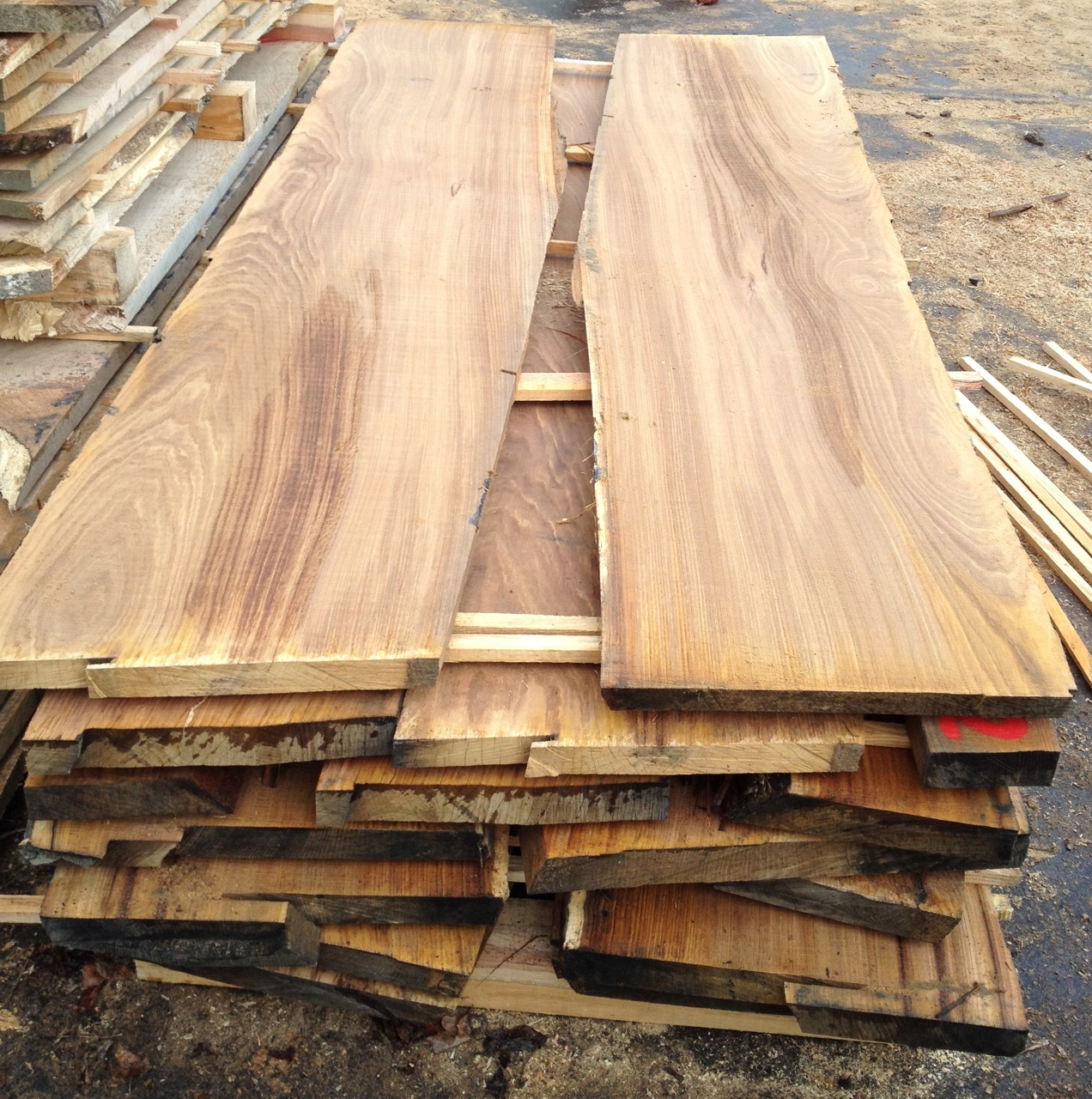 Chestnut boards