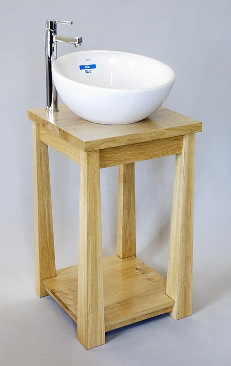 Oak sink stand