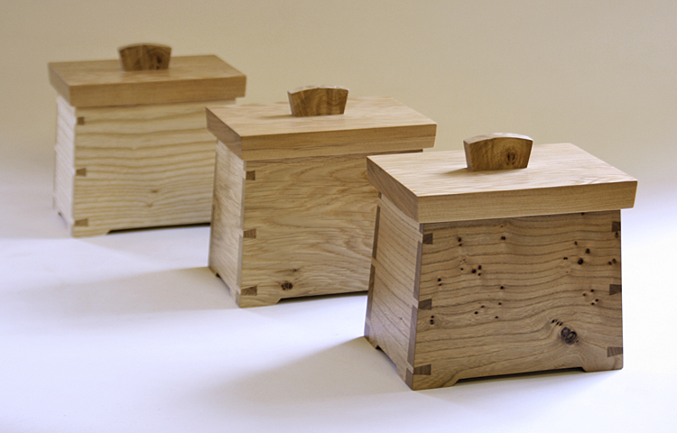 Tea Caddies in oak, ash & elm.jpg