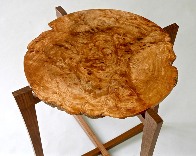Burr Elm Table Top