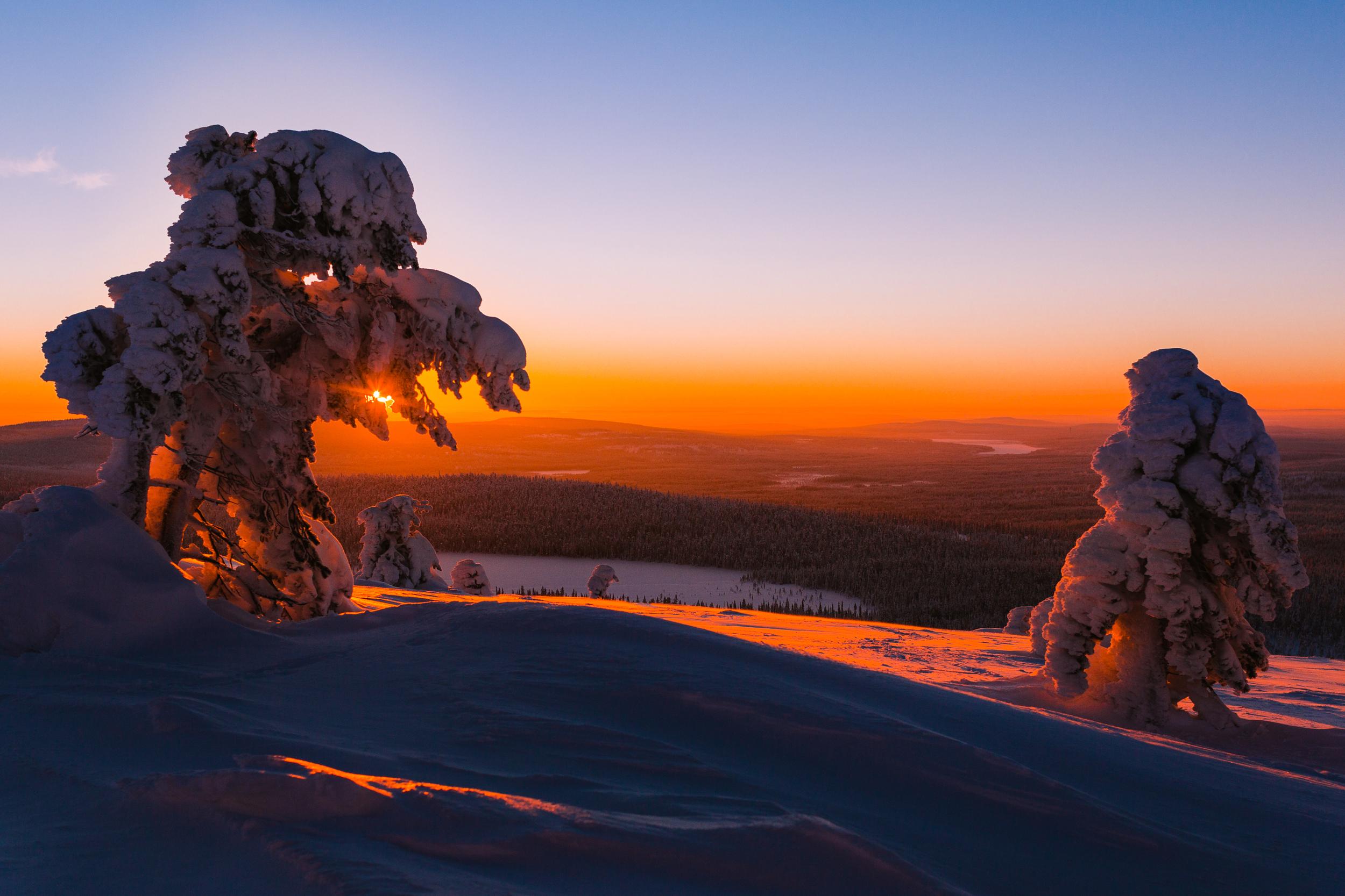 Sunset in Lapland