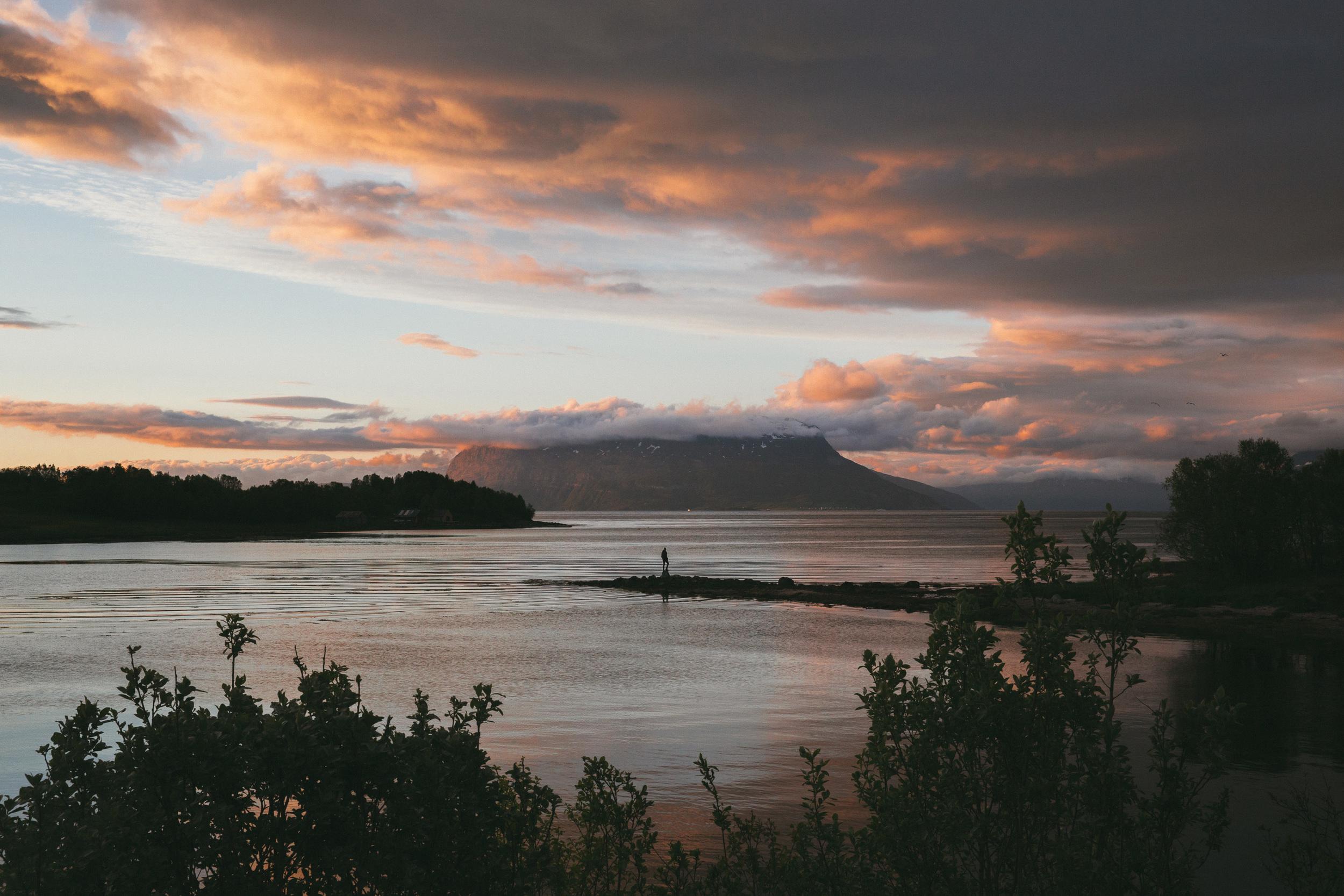 Sunset over at Harstad