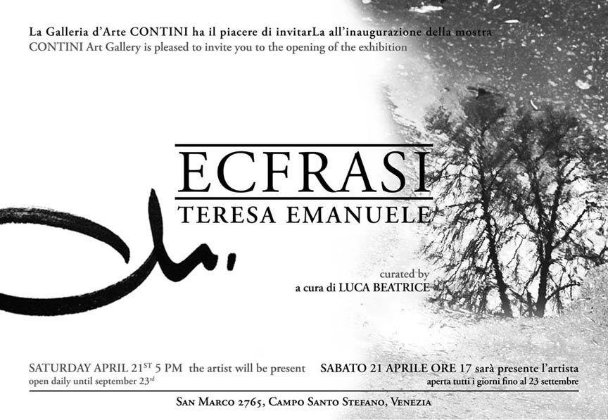 ECFRASI curated by Luca Beatrice - Galleria d'Arte Contini, Venice, 2012