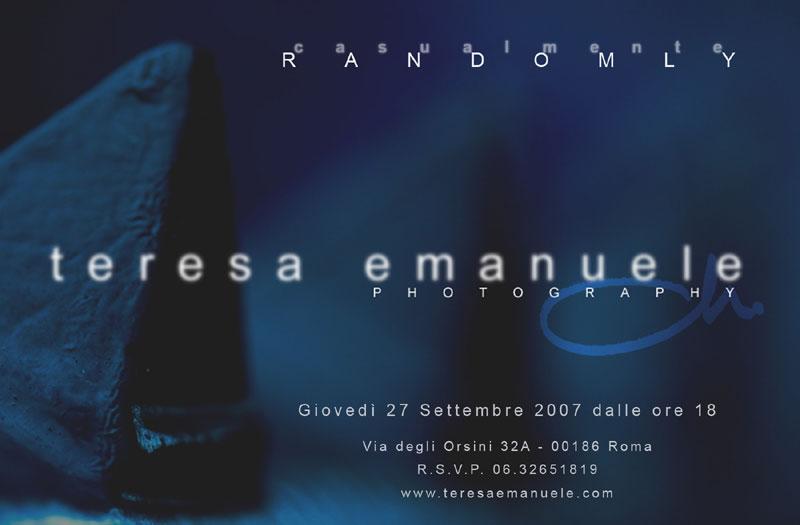 RANDOMLY - CASUALMENTE - Galleria dell'Orologio, Rome, 2007