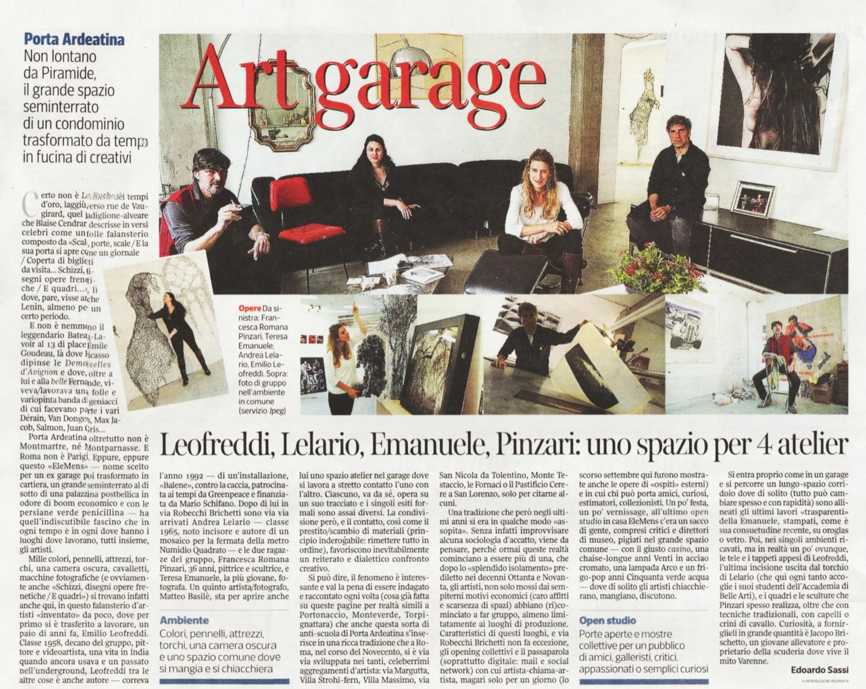 CORRIERE DELLA SERA, April 28, 2014 - Article by Edoardo Sassi