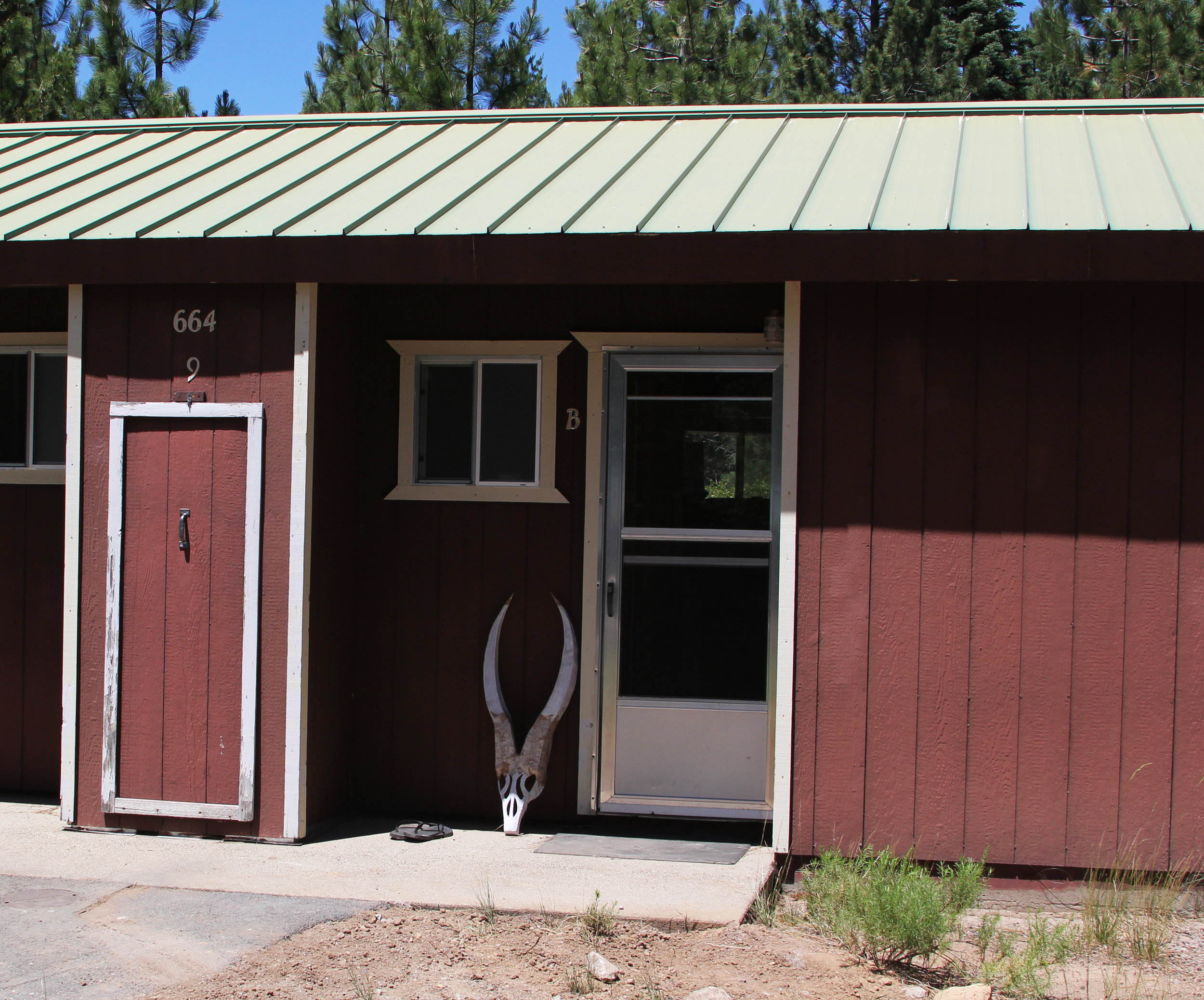 Artist-In-Residency lodging in the Park Ranger quarters.