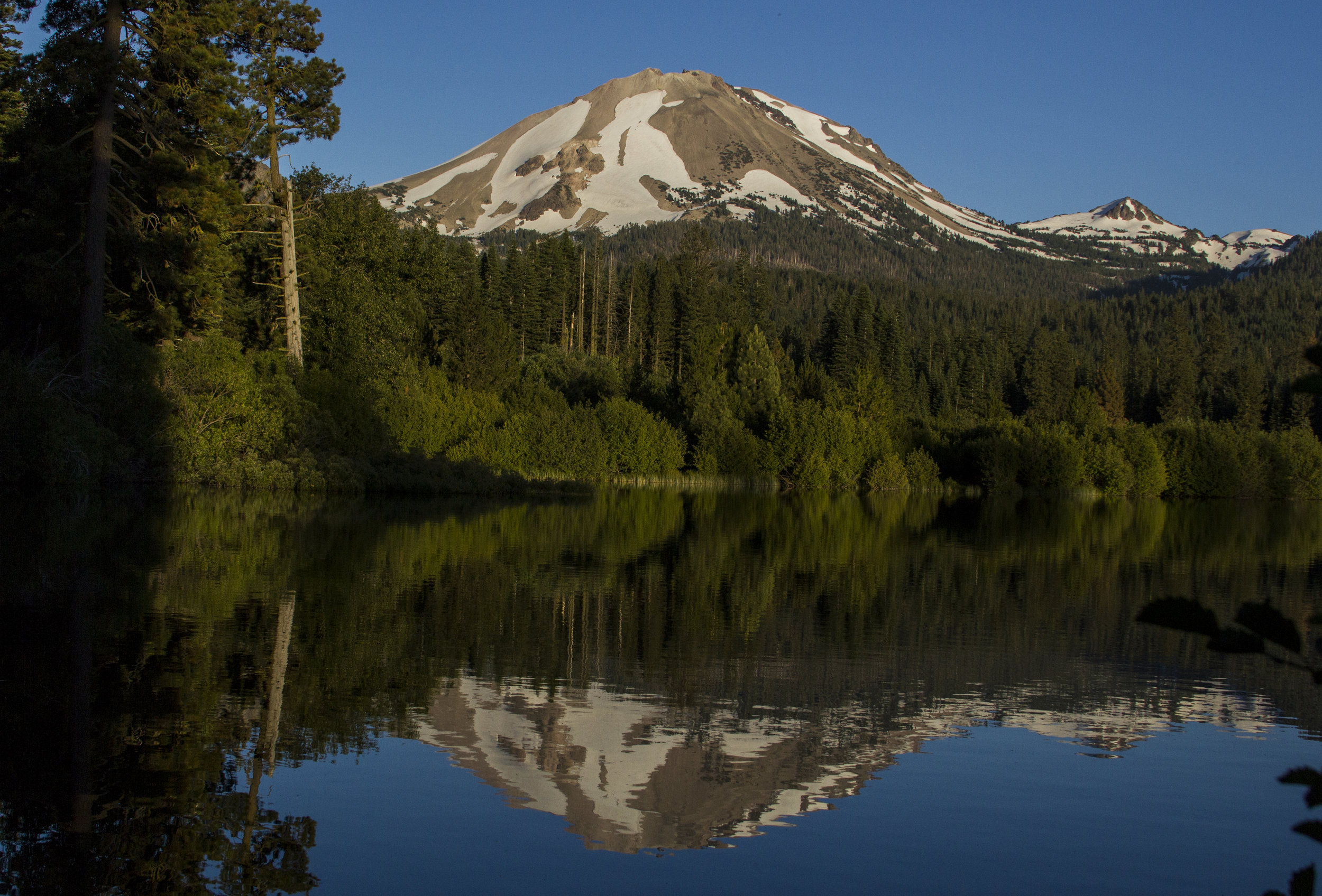 Lassen Peak and Lake Manzanita