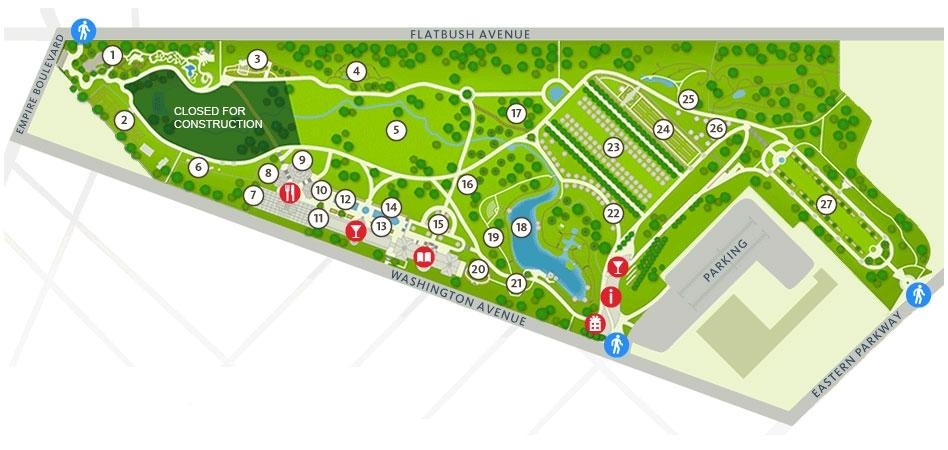 Garden map from the BBG website
