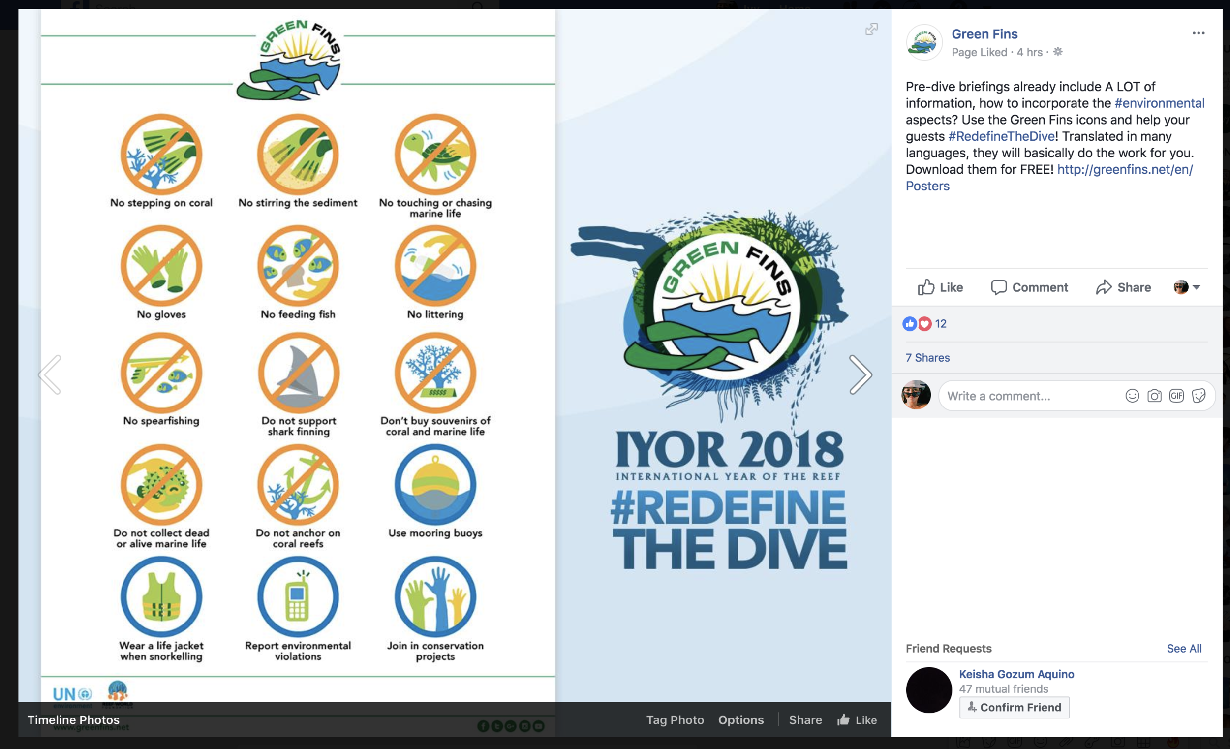 The Icons are available for download on the website, used consistently all over social media, and are available in many different languages for use by different dive operators and establishments around the world.