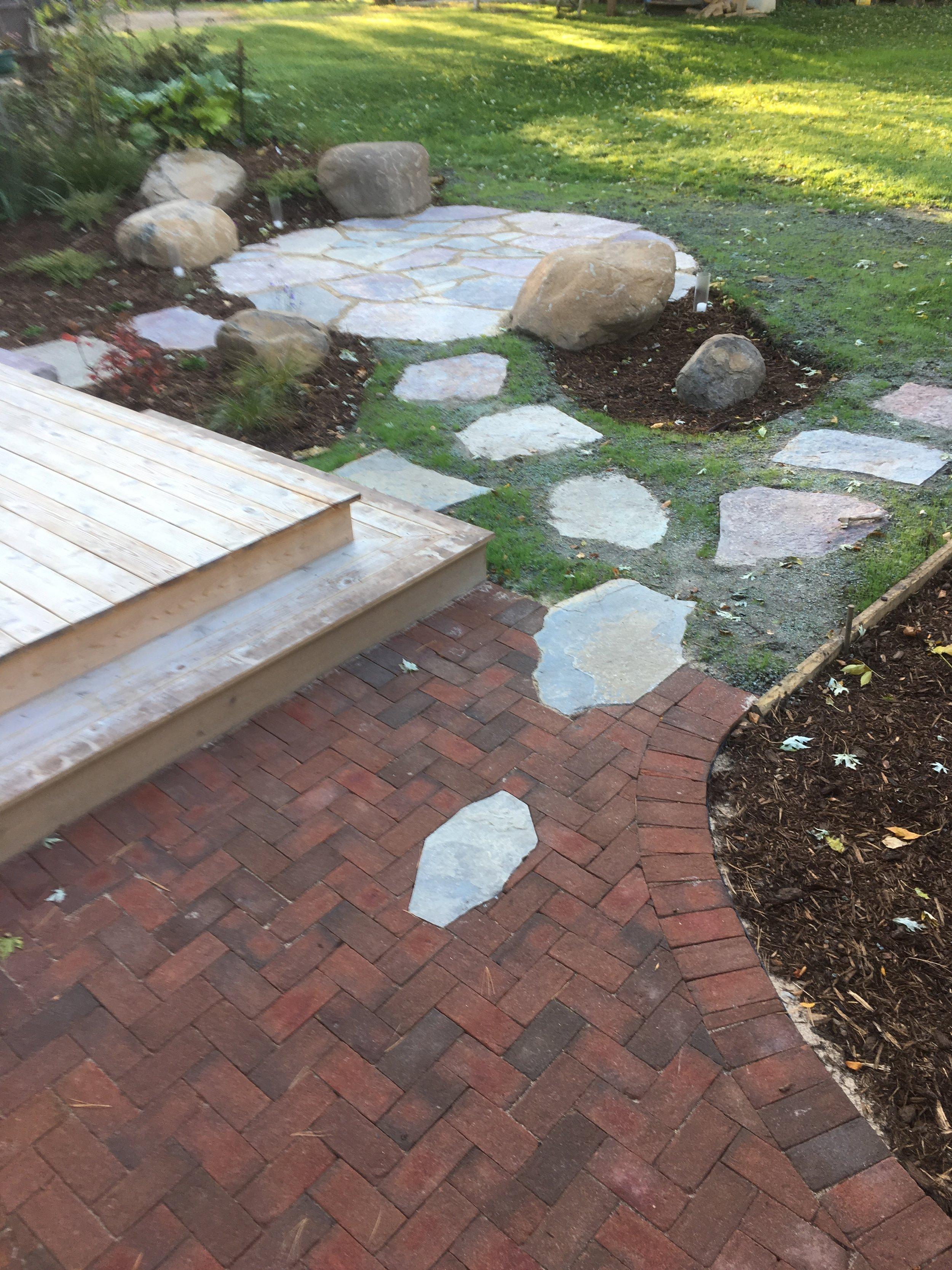 Flagstone Patio & Brick Walkway.JPG