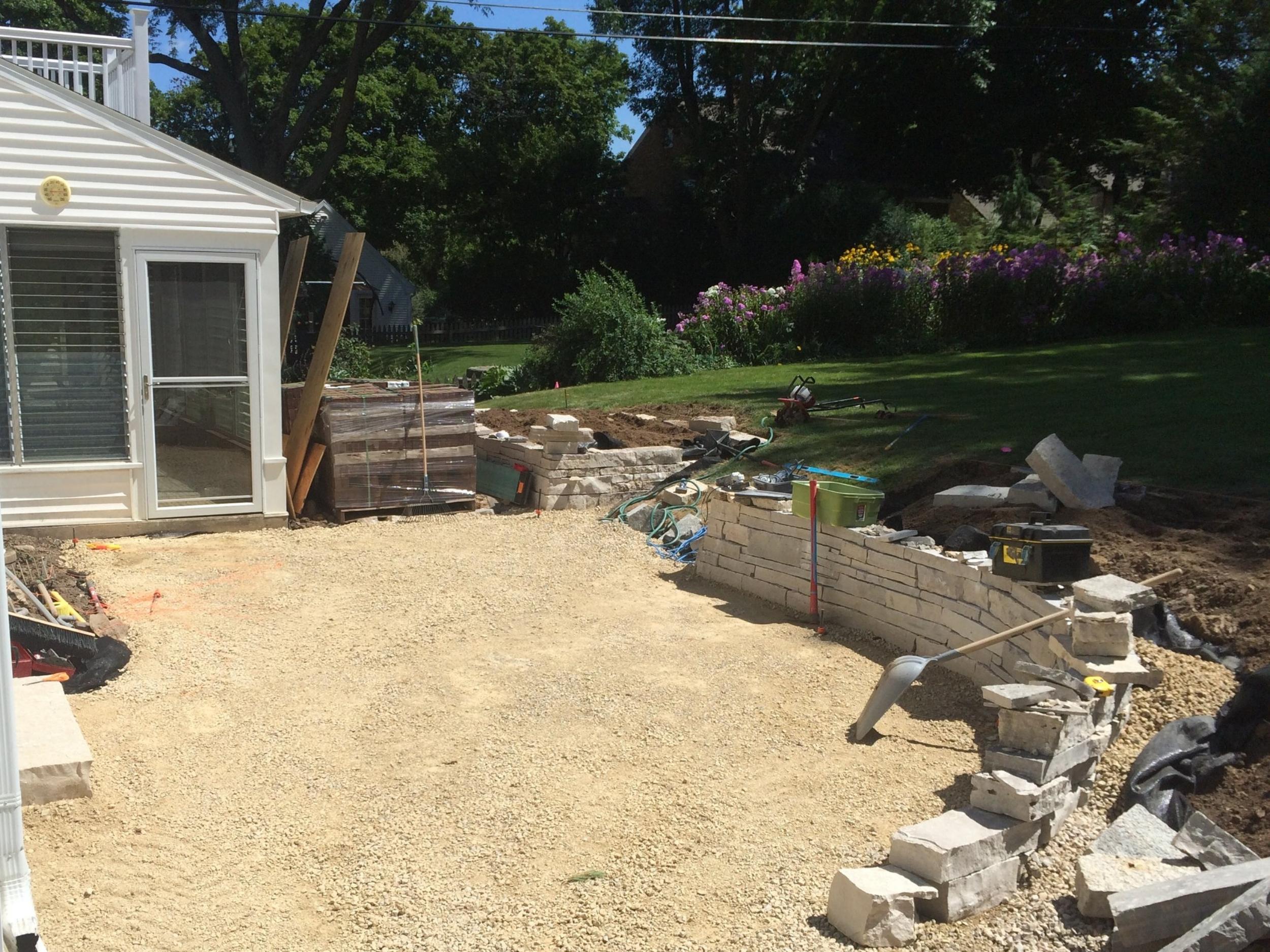 During - Backyard Renovation - Nakoma - Madison, WI
