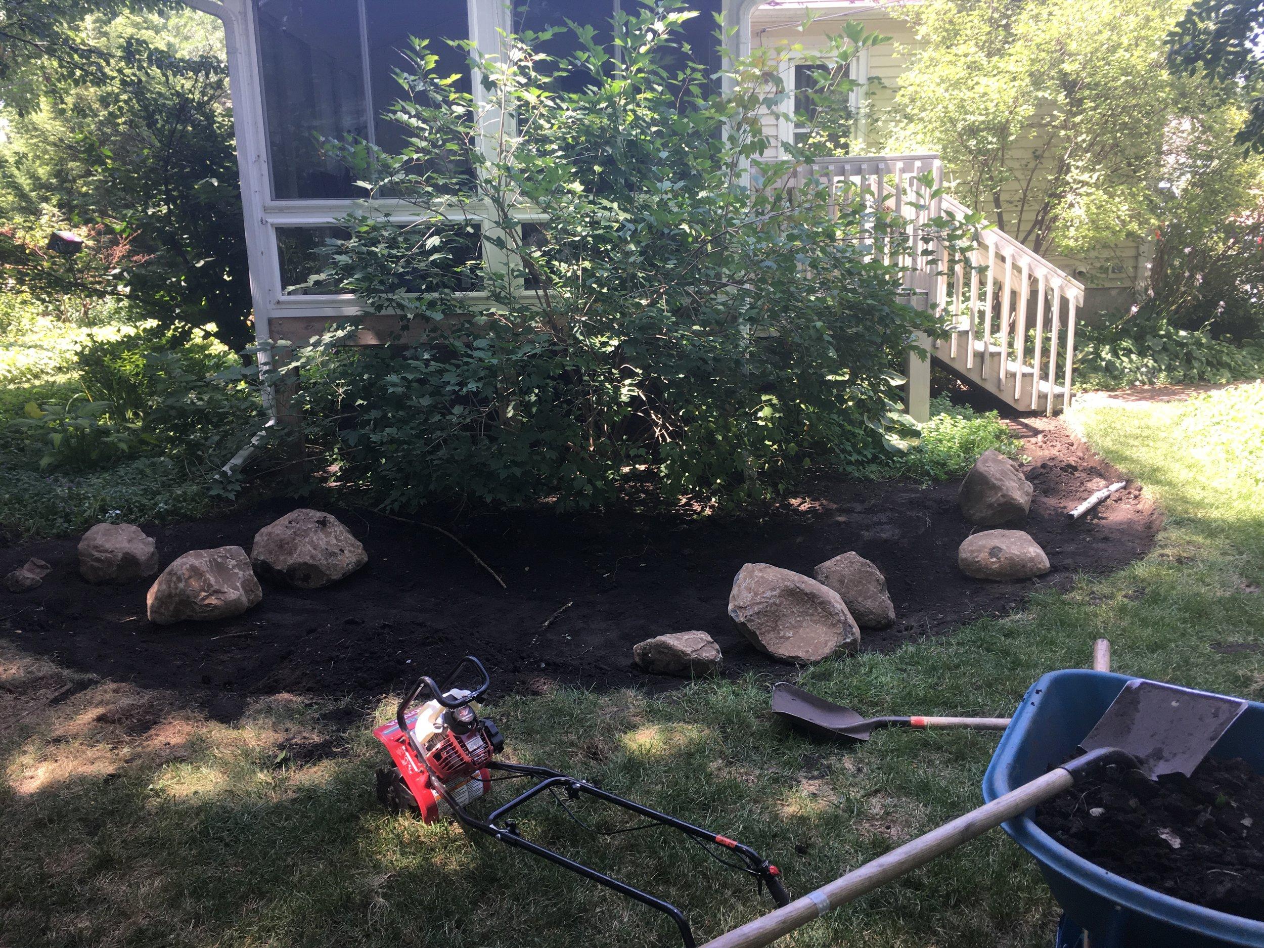 Rain Garden in Progress