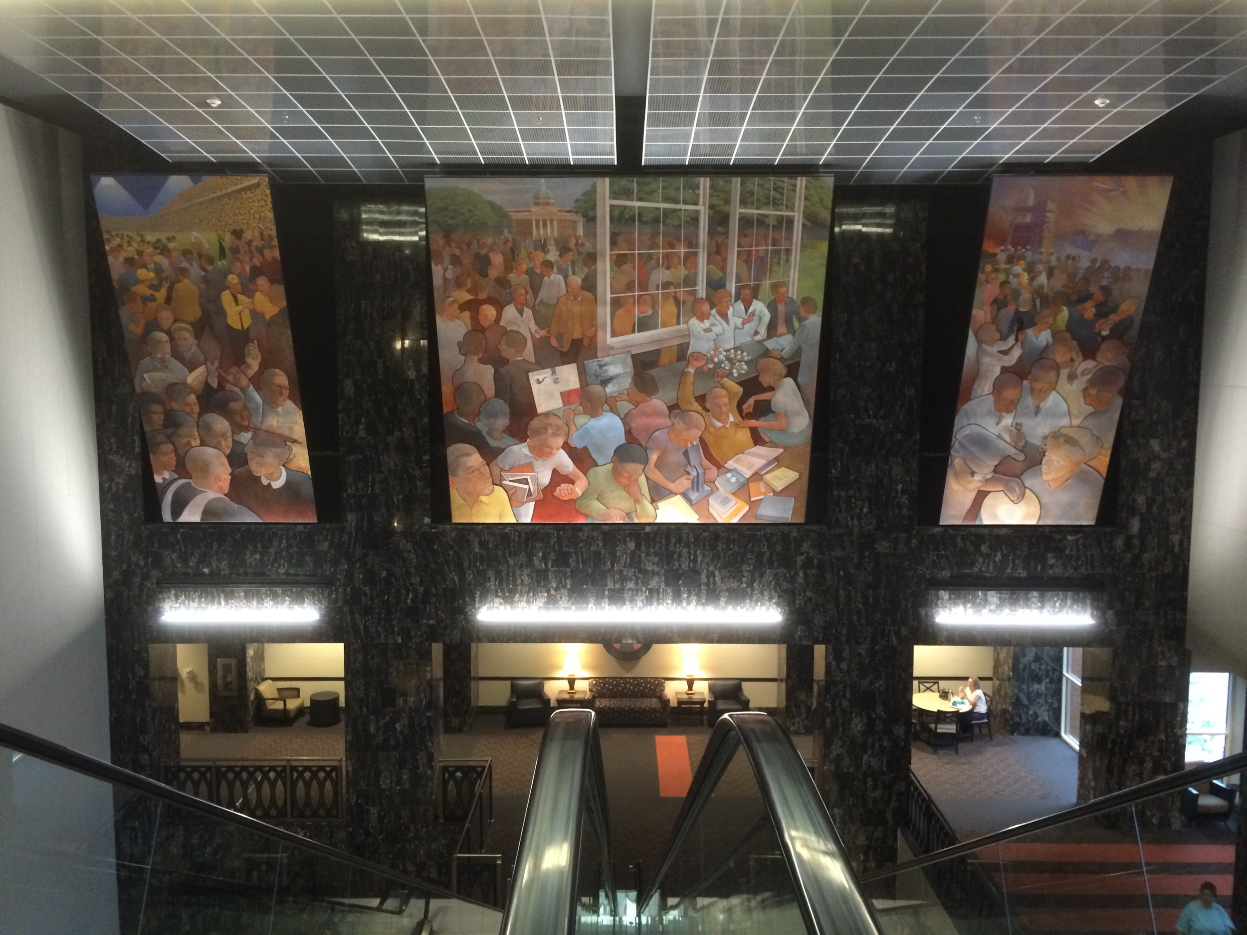 Saw this incredible mural each day while taking the series of escalators.