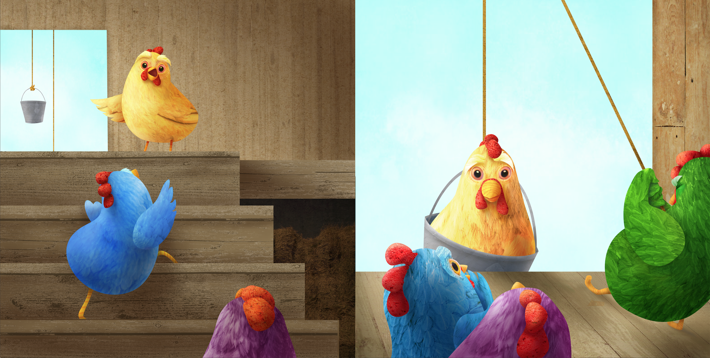 The chickens are setting their plan into motion, but what are they going to discover out there?