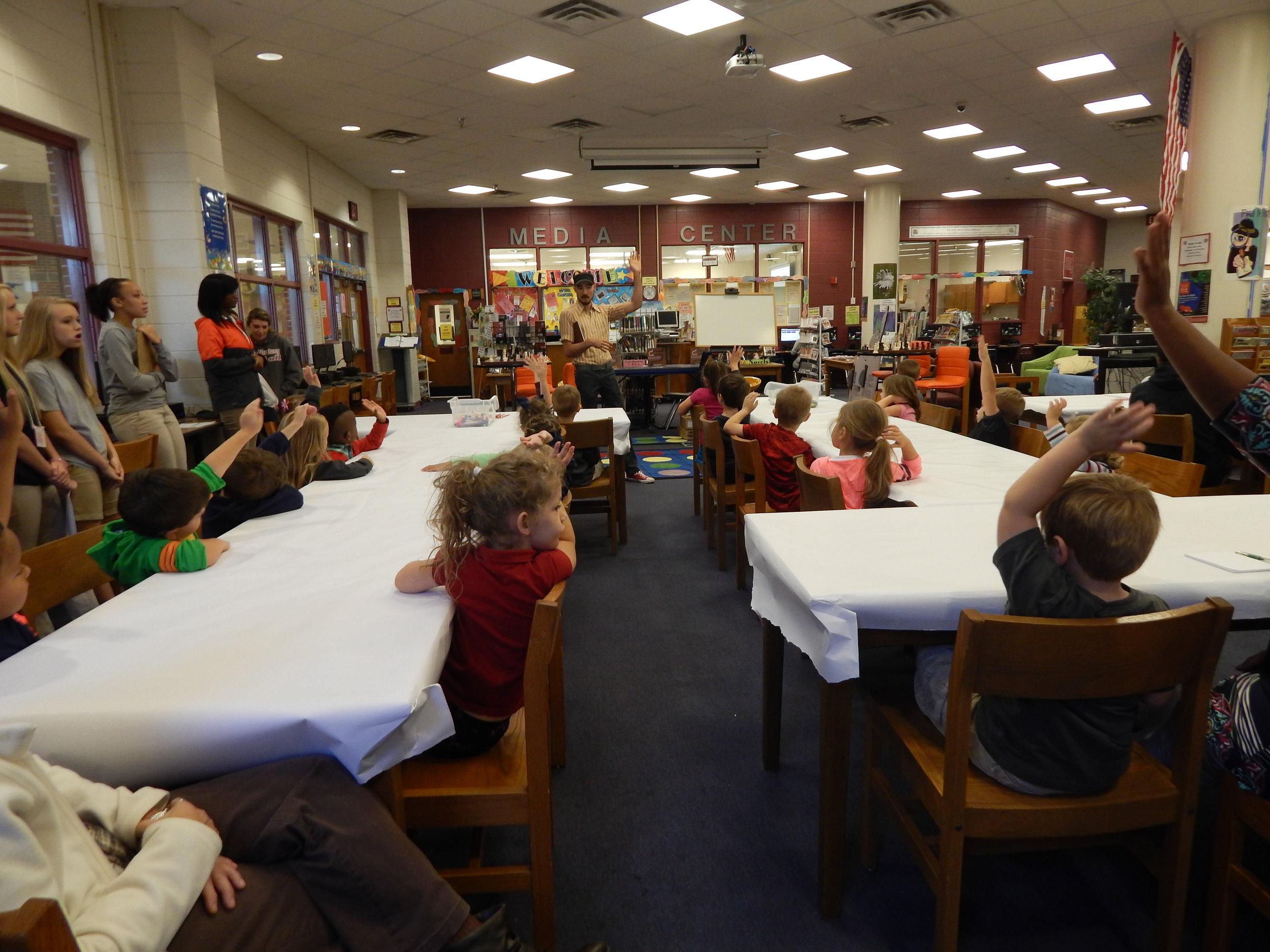 Jose Lucio school visit