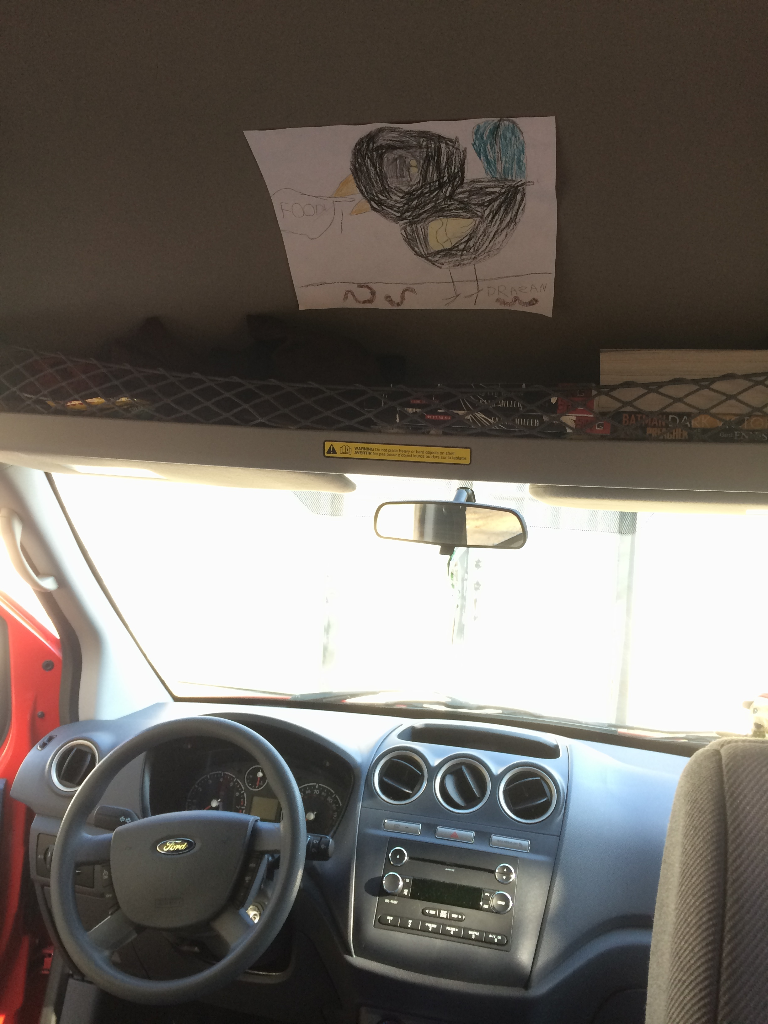 The van's getting decorated with fan art.