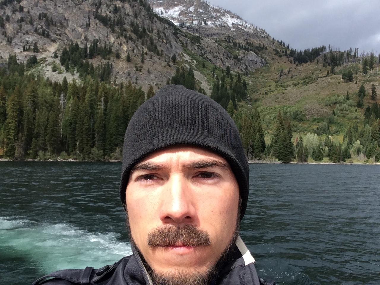 Cruisin' on Jenny Lake in the Tetons.