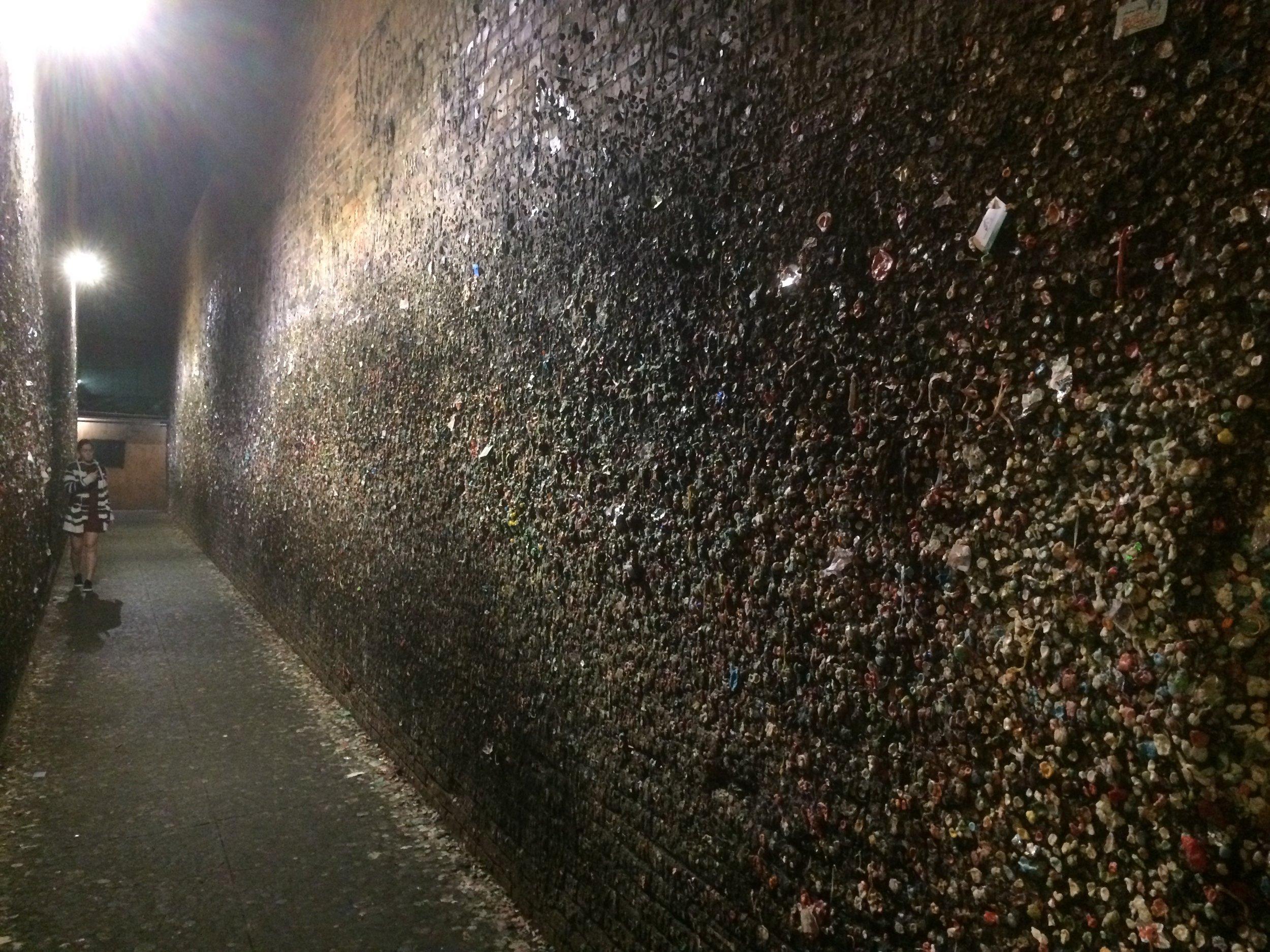 Ewww gross! Gum wall in San Luis Obispo.