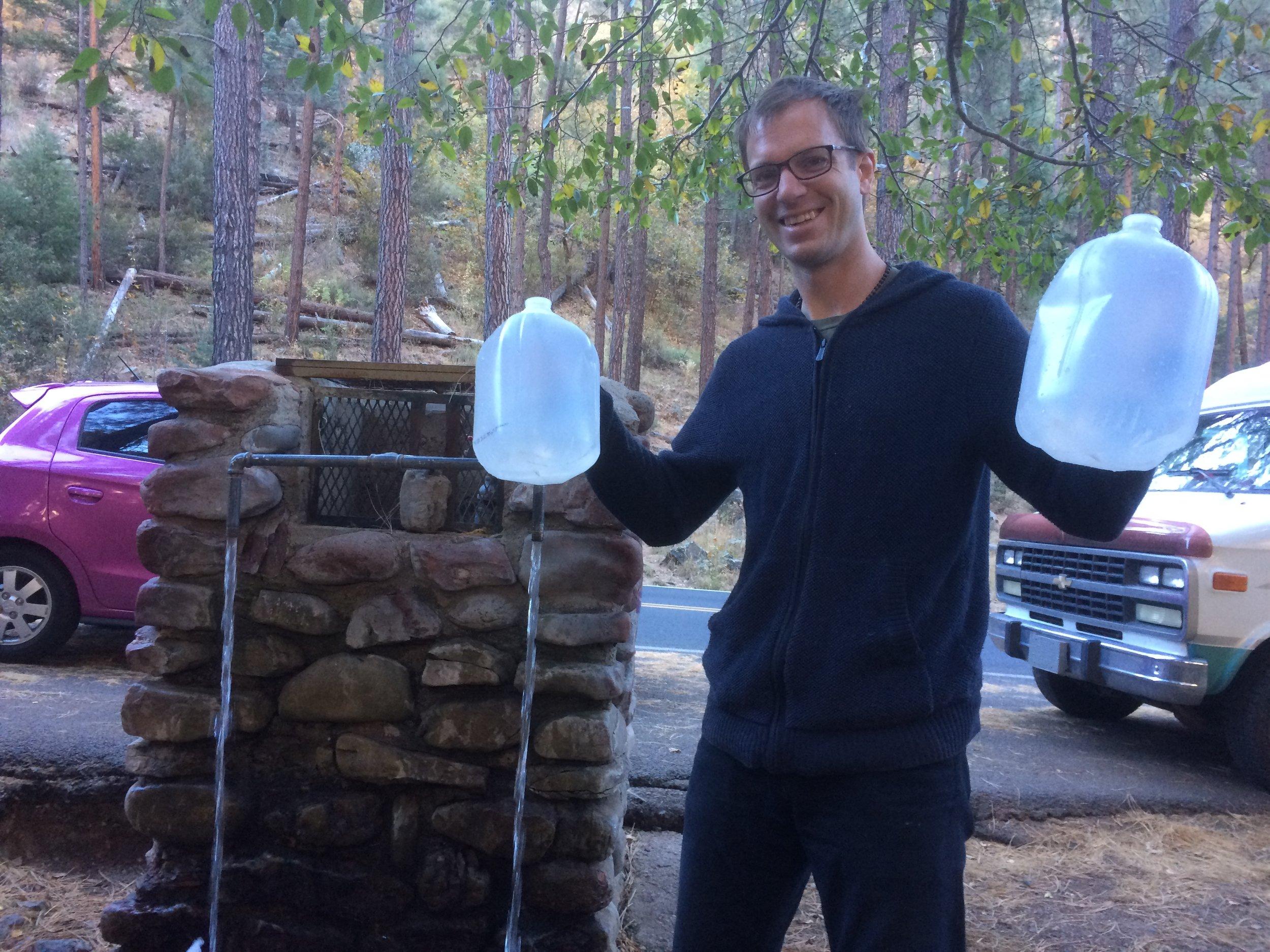 Natural Spring water in Sedona, CA