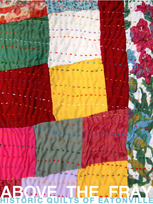 Hand-stitched quilts by Ella Dinkins and Josephine Burns