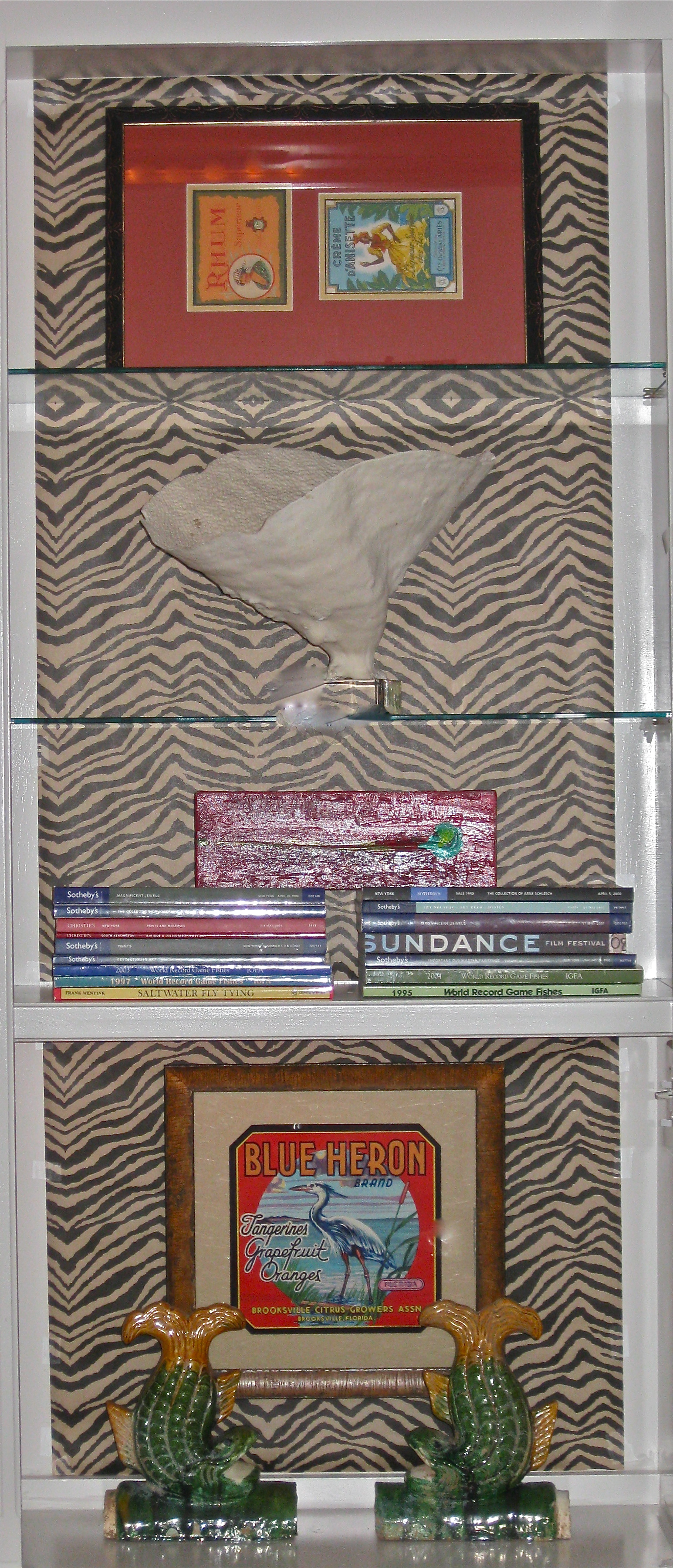 Client shelving project designed to highlight key pieces.